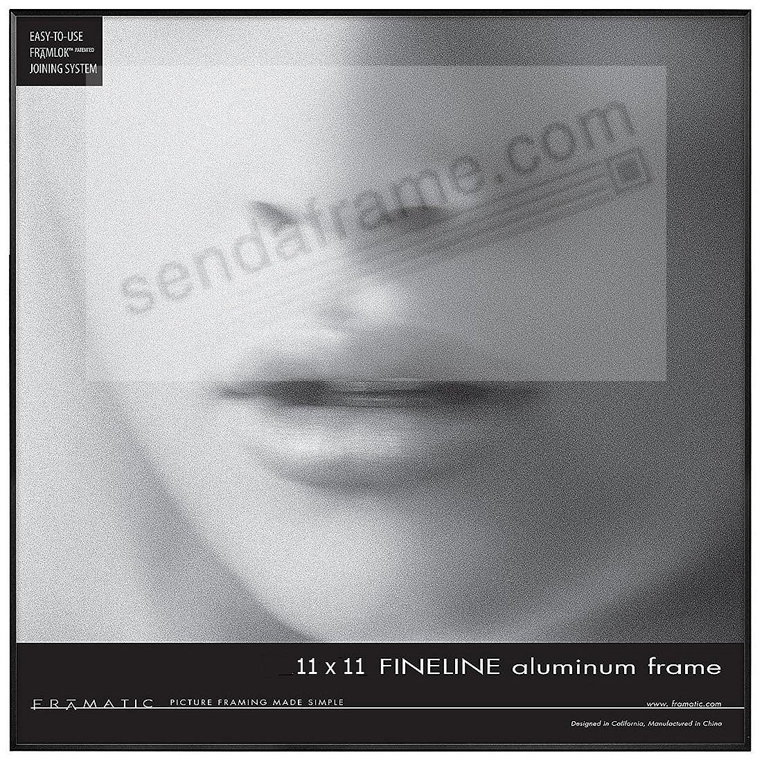 FINE LINE Black Aluminum 11x11 by Framatic®