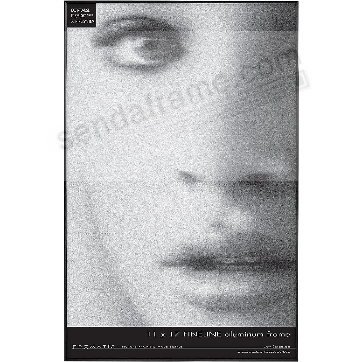 FINELINE Black Aluminum 11x17 by Framatic®