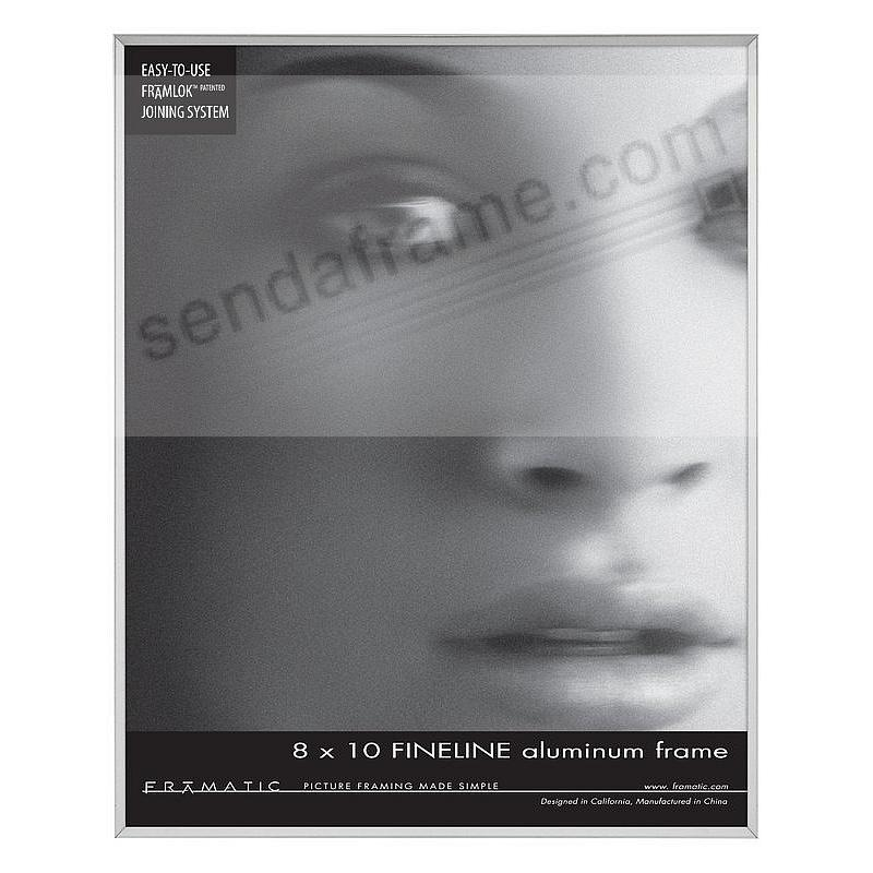 FINELINE Silver Aluminum 8x10 by Framatic®
