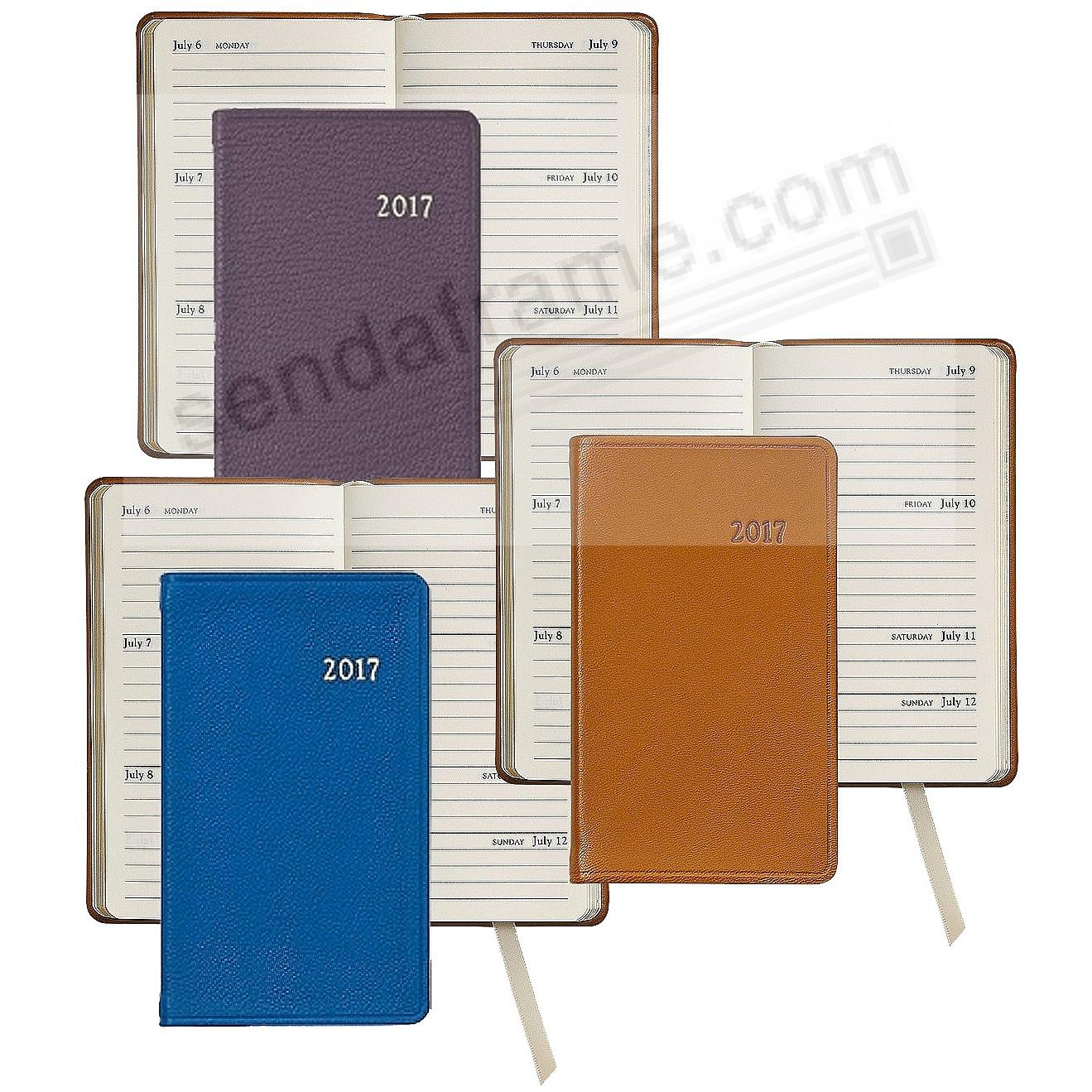 2017 ASSORTED 5-inch Pocket Datebook Diary Leather by Graphic Image™