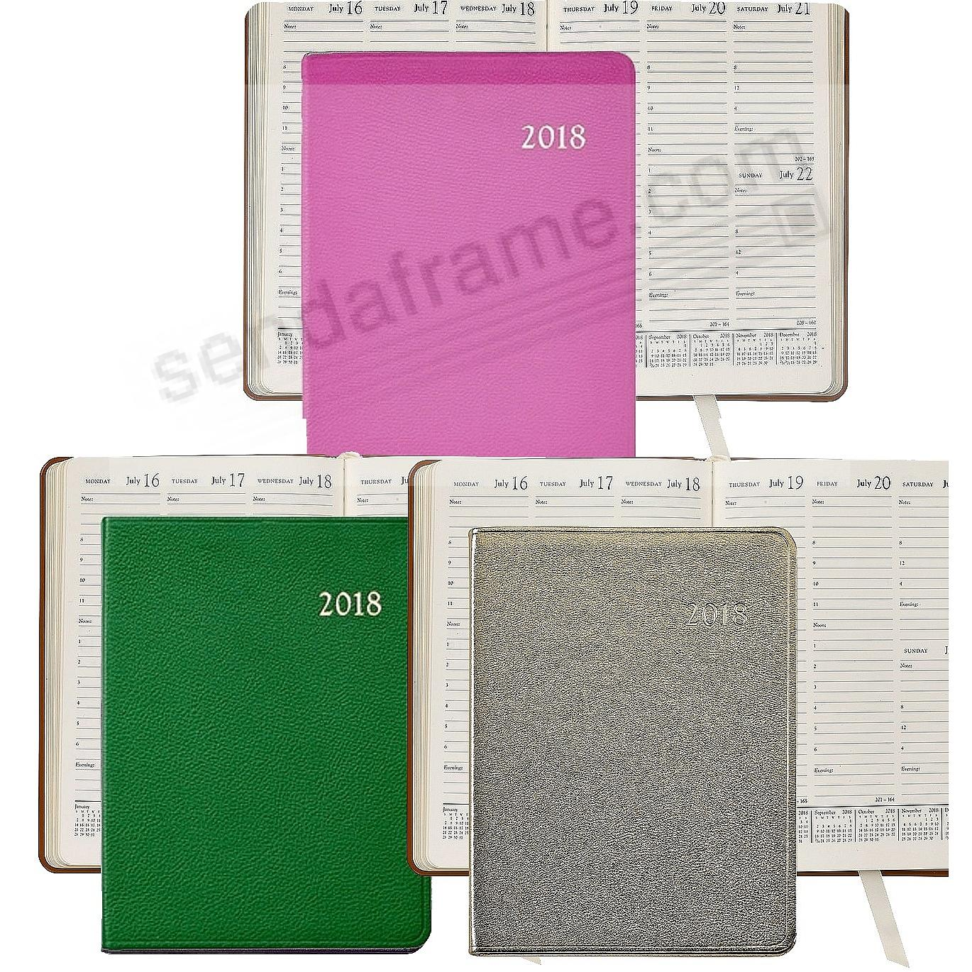 2018 Desk Diary 9inch Leather by Graphic Image™ - ASSORTED