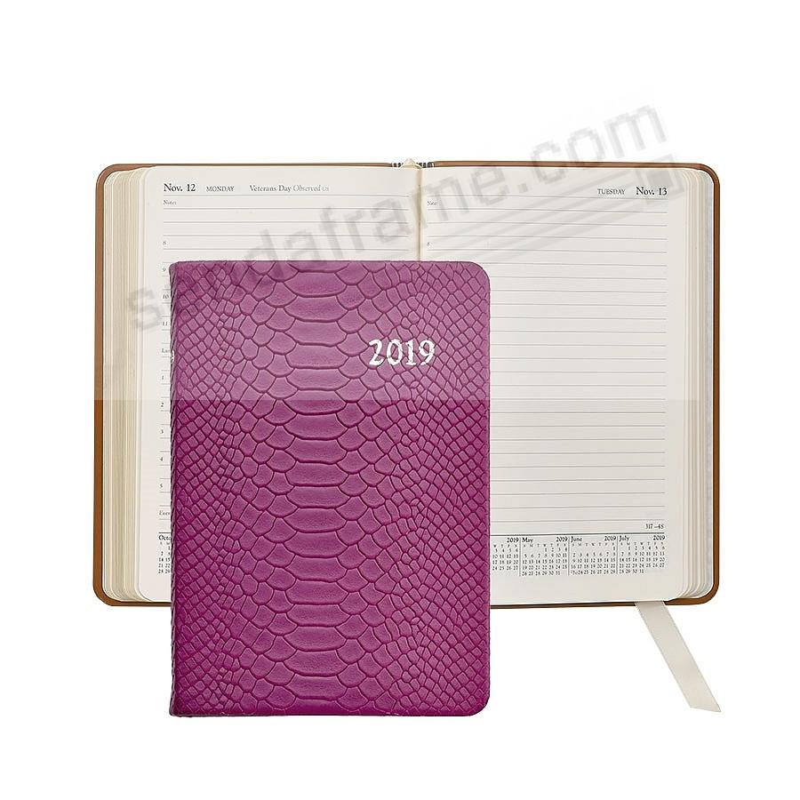 2019 MAGENTA Embossed Python Leather Daily 8-in Journal by Graphic Image™