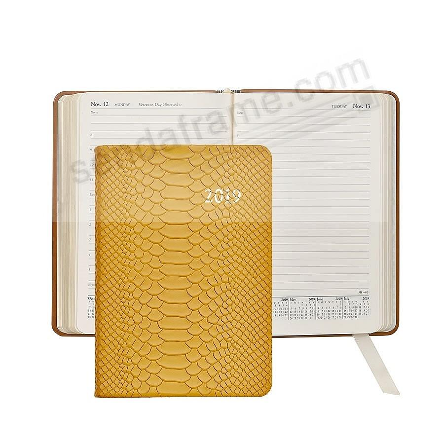 2019 YELLOW Embossed Python Leather Daily 8-in Journal by Graphic Image™
