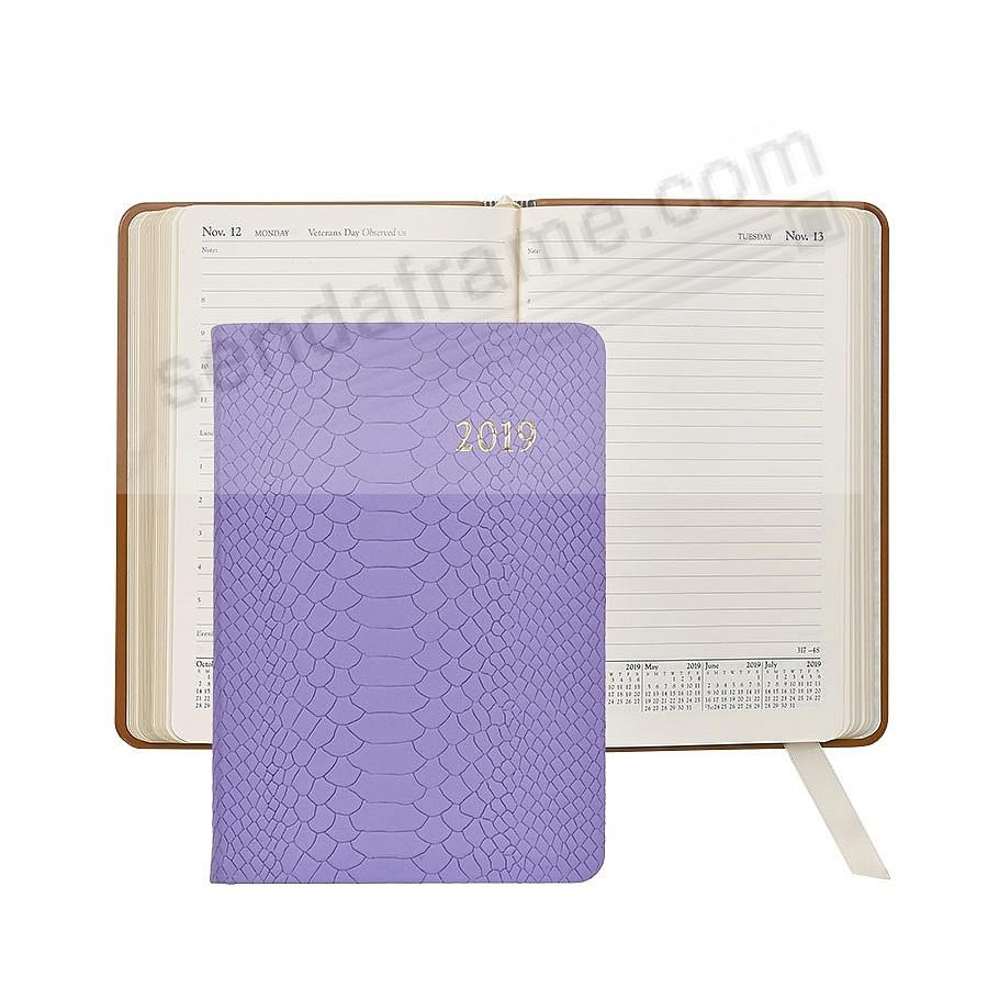 2019 LAVENDER Embossed Python Leather Daily 8-in Journal by Graphic Image™