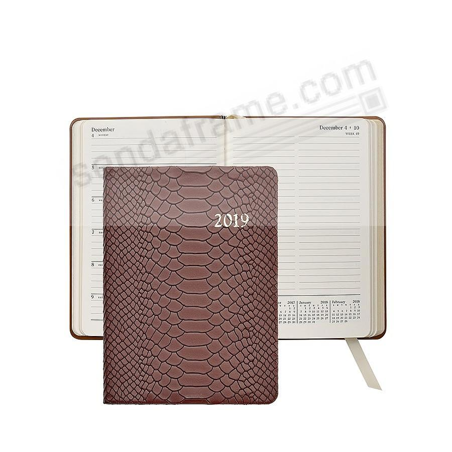 2019 Notebook Planner 7-in COGNAC Embossed Python by Graphic Image™