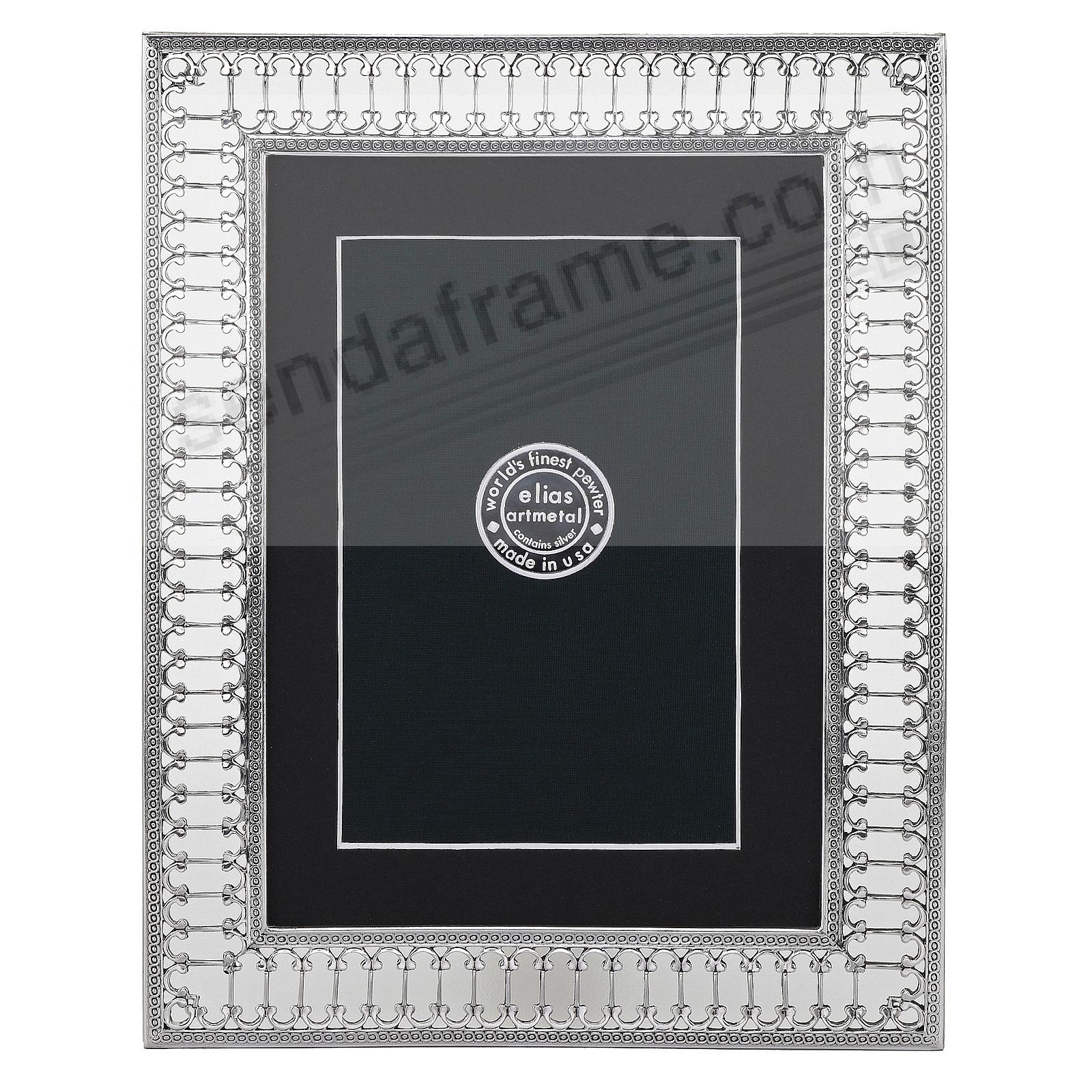 PARIS METRO Fine Silvered Pewter 5x7/4x6 frame by Elias Artmetal®