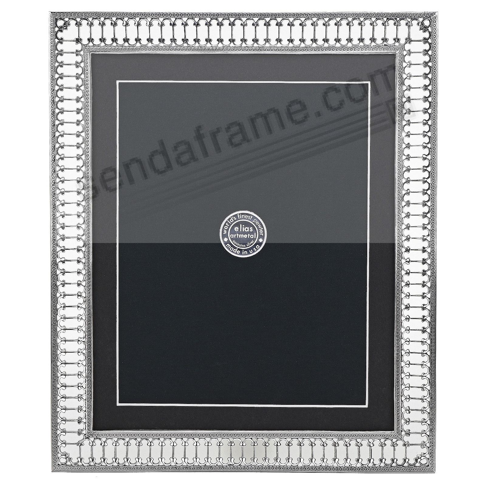 PARIS METRO Fine Silvered Pewter frame 8x10/7x9 by Elias Artmetal®