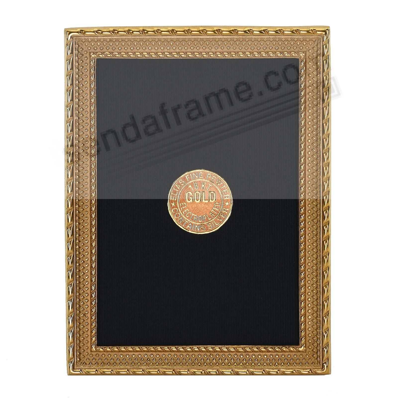 DOT-TO-DOT 18kt Gold Vermeil over fine Pewter 2½x3½ frame by Elias Artmetal®