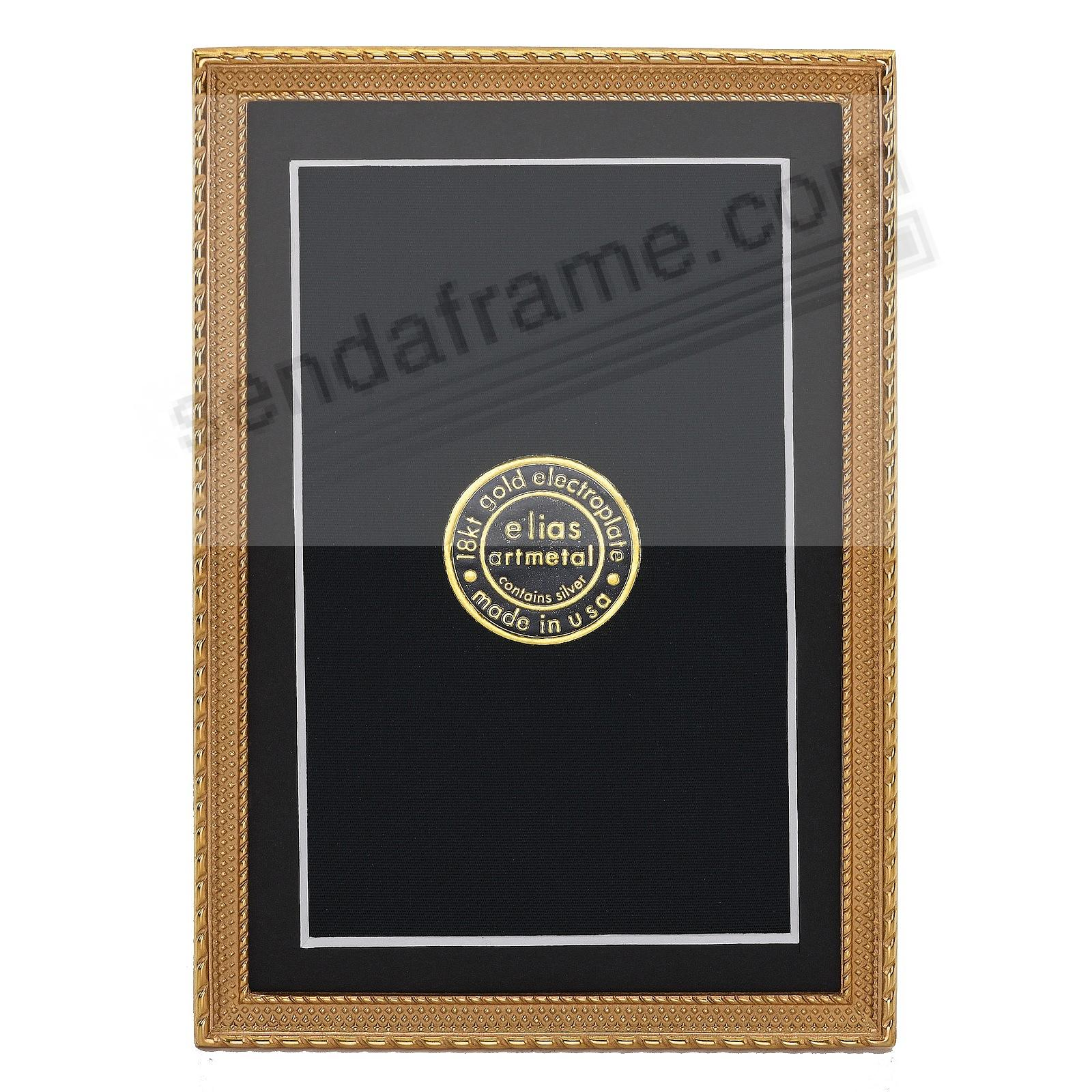 DOT-TO-DOT 18kt Gold Vermeil over fine Pewter 5x7/4½x6½ frame by Elias Artmetal®