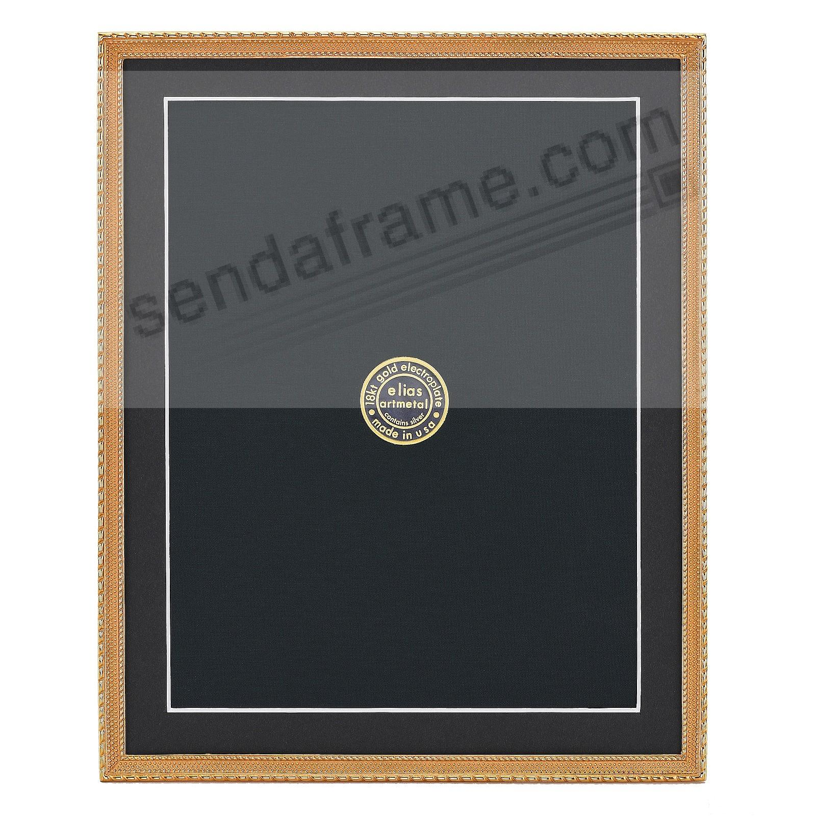 DOT-TO-DOT 18kt Gold Vermeil over fine Pewter 8x10/7x9 frame by Elias Artmetal®