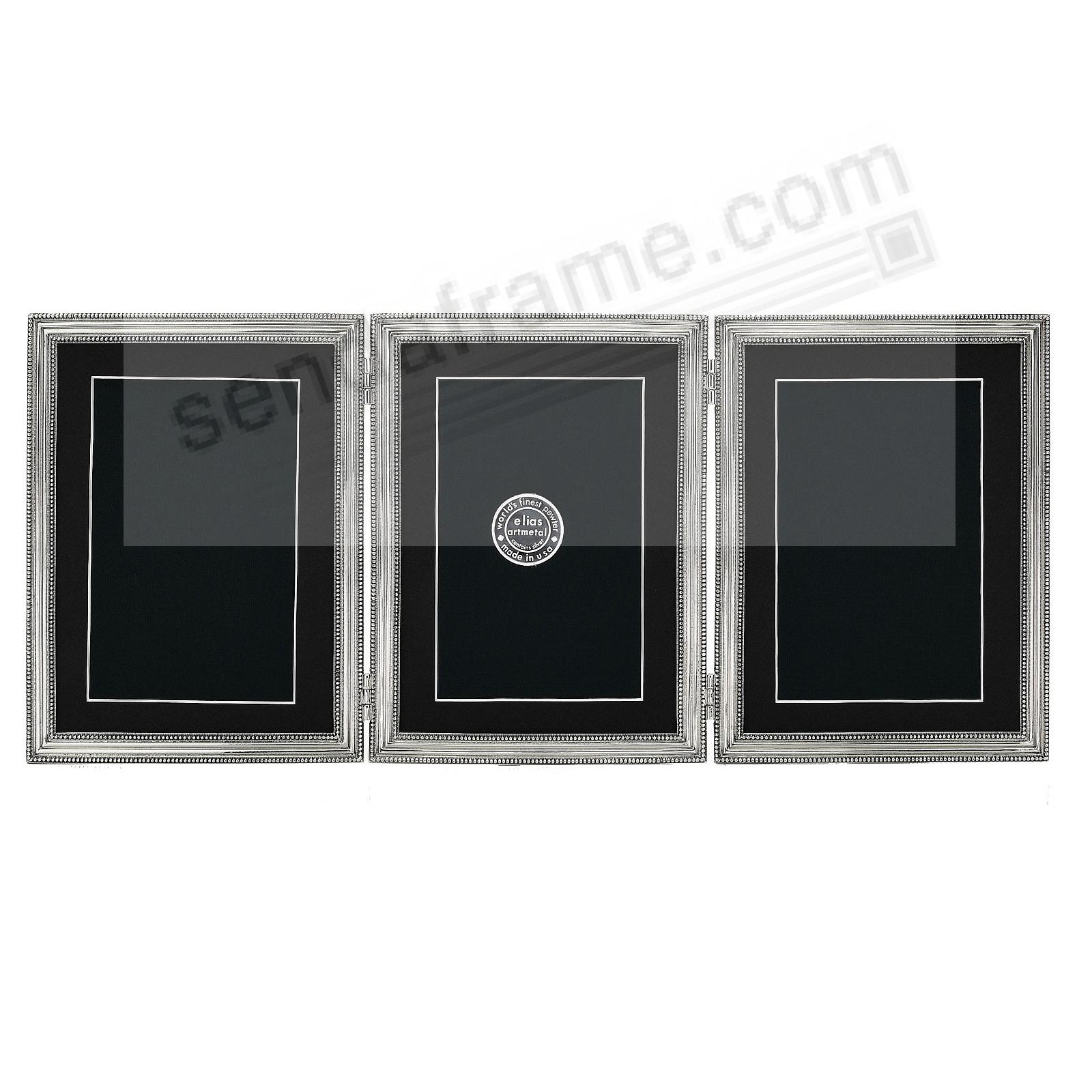 CLASSICO TRIPLE Hinged 2½x3½ frame in fine Pewter by Elias Artmetal®