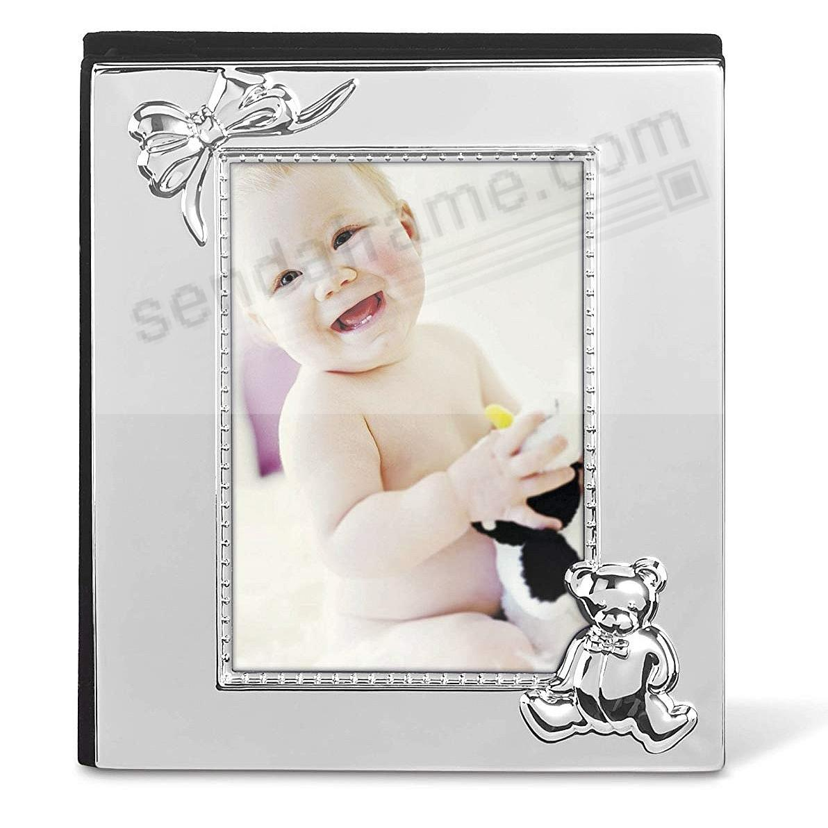 Childhood Memories™ Silver Bear 4x6 Album w/Cover Frame by Lenox