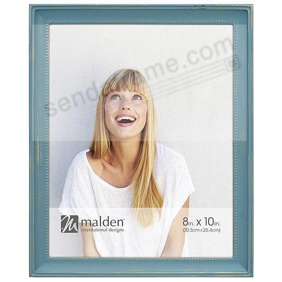 SUTTON TEAL BLUE-WASH on Beaded METALLIC frame by Malden®