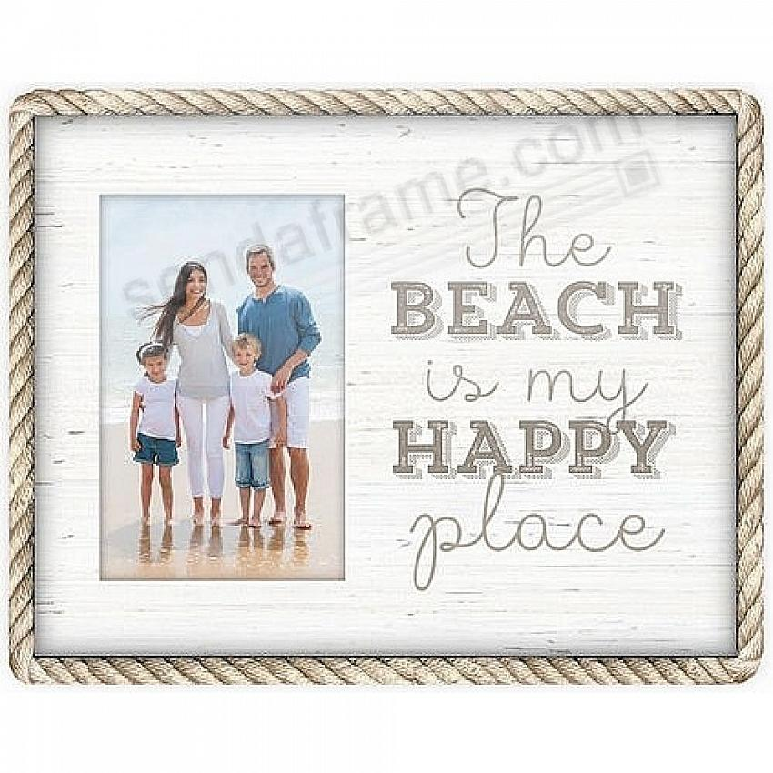 THE BEACH IS MY HAPPY PLACE 4x6 Frame by Malden®