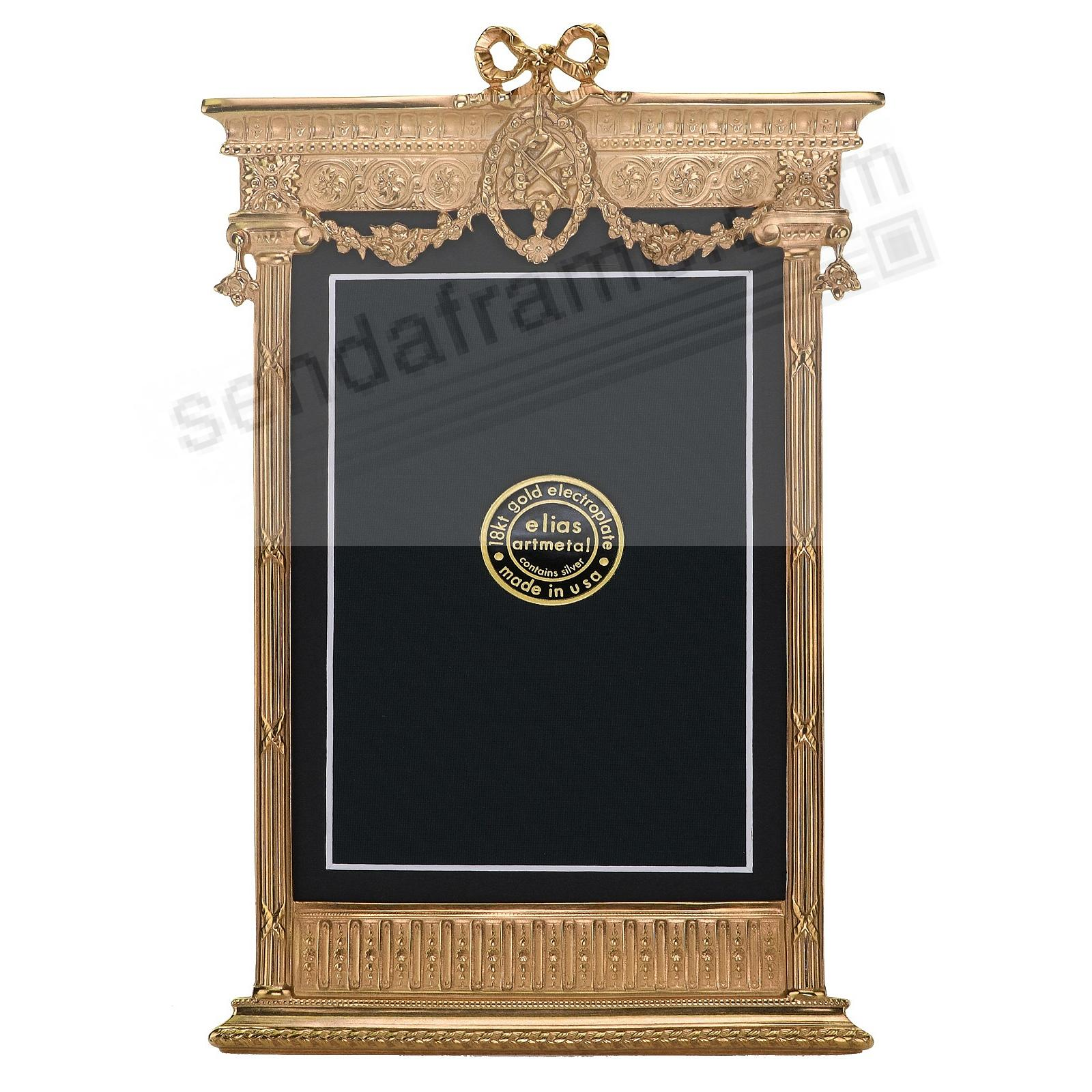 FRENCH TABERNACLE 18kt Museum Gold 4x6 frame by Elias Artmetal®