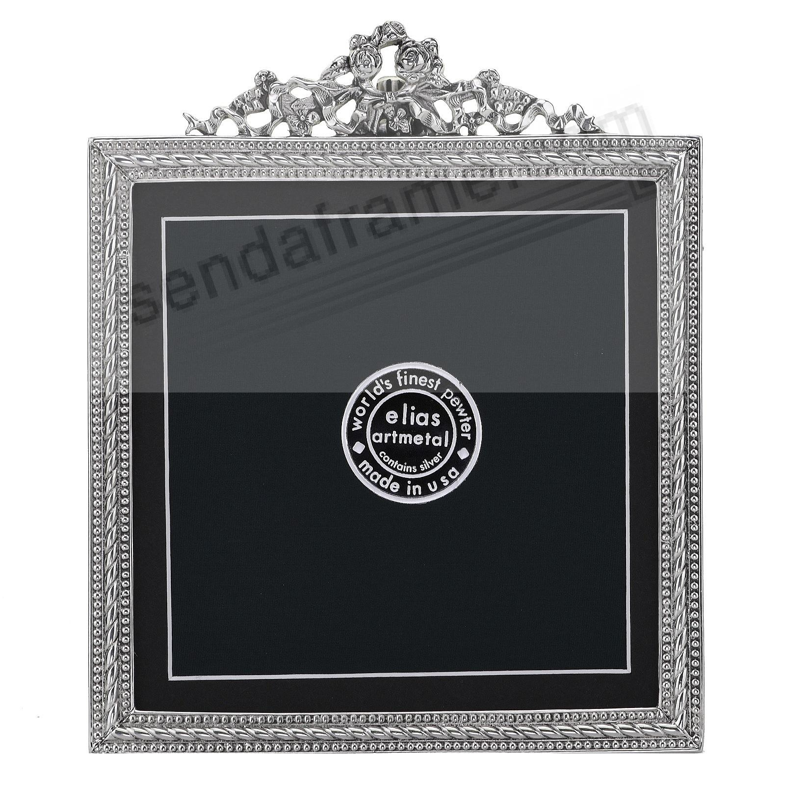 FRENCH REVIVAL BEADING silvered Fine Pewter 5x5/4x4 frame by Elias Artmetal®