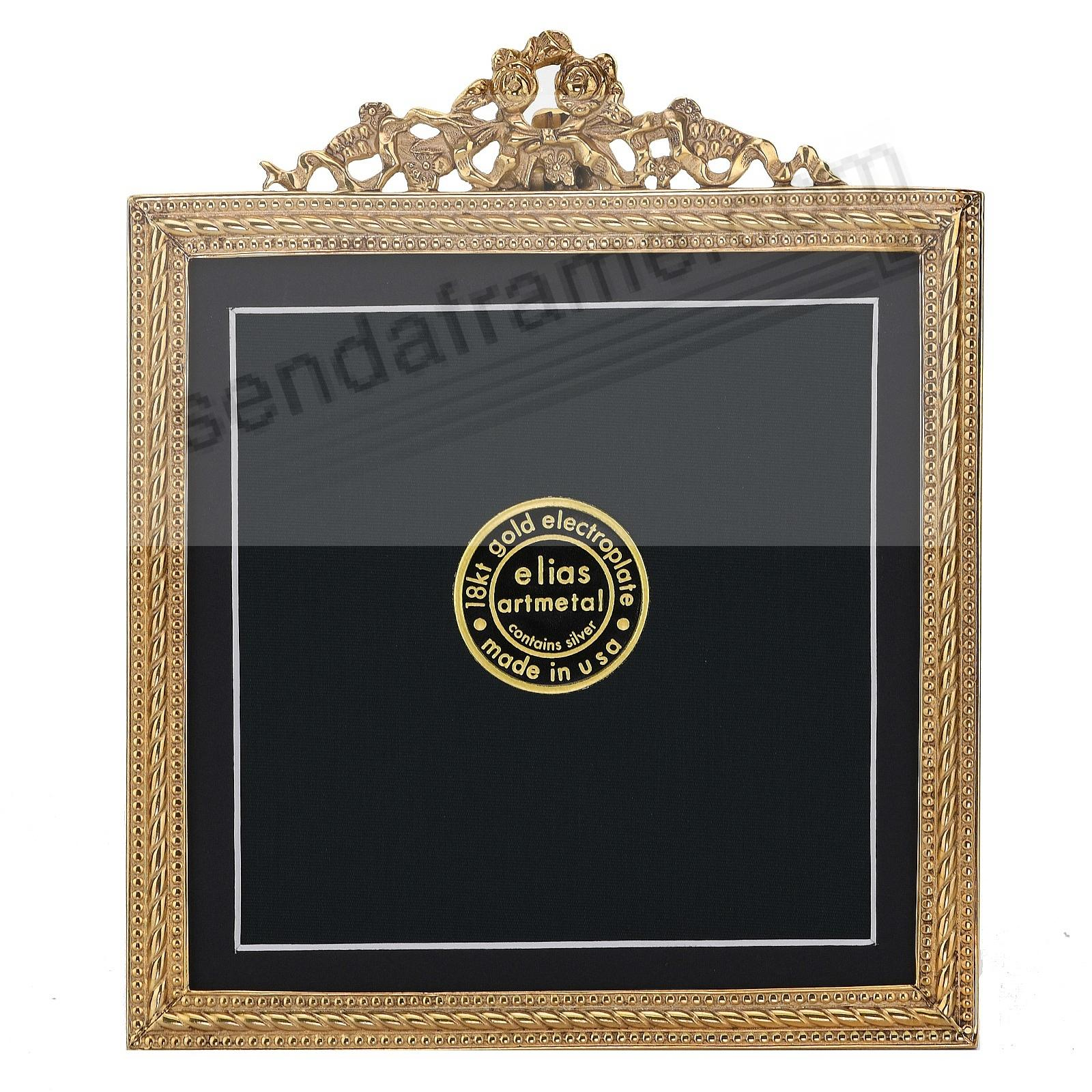 FRENCH REVIVAL BEADING 18kt Gold Vermeil over fine Pewter 5x5/4x4 frame by Elias Artmetal®