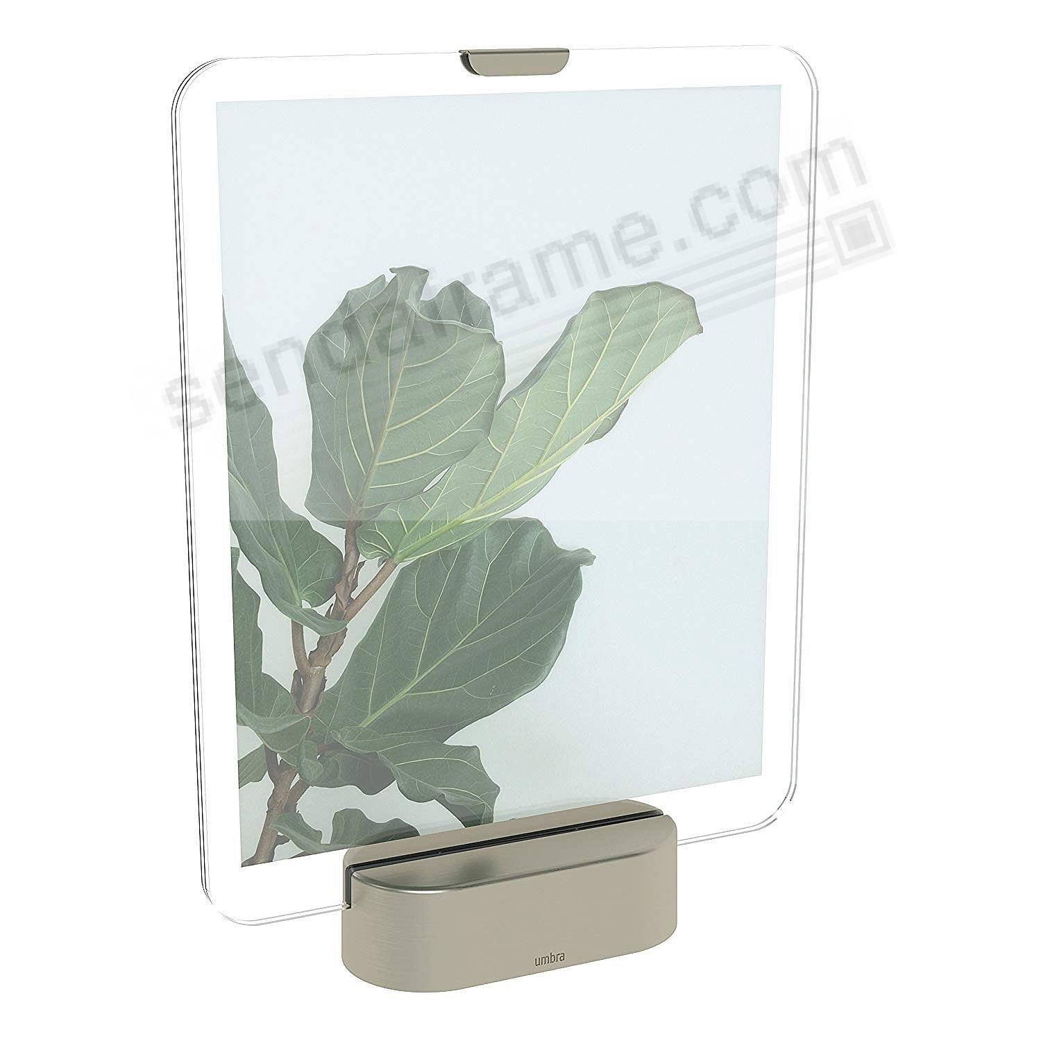 GLO LED Photo Display 8x10 Nickel finish by Umbra®