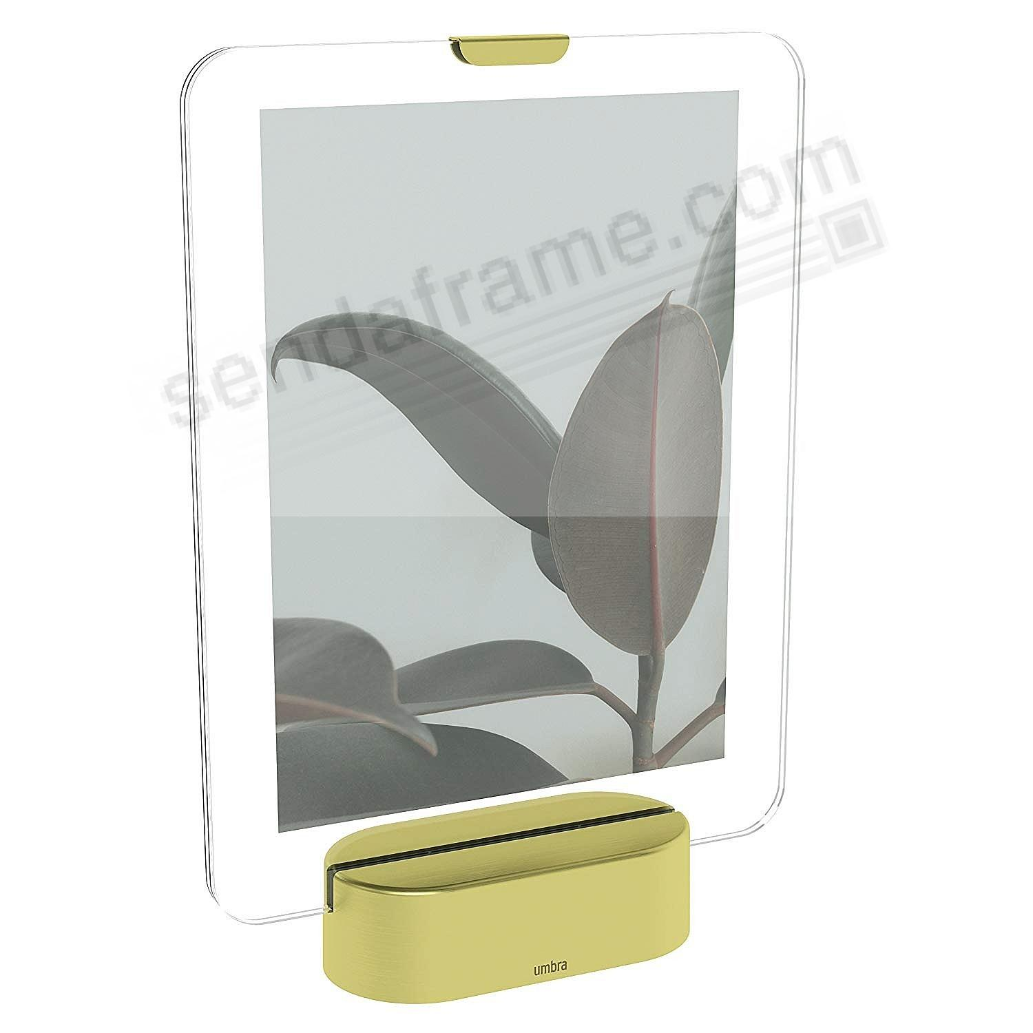 GLO LED Photo Display 5x7 MATTE BRASS finish by Umbra®