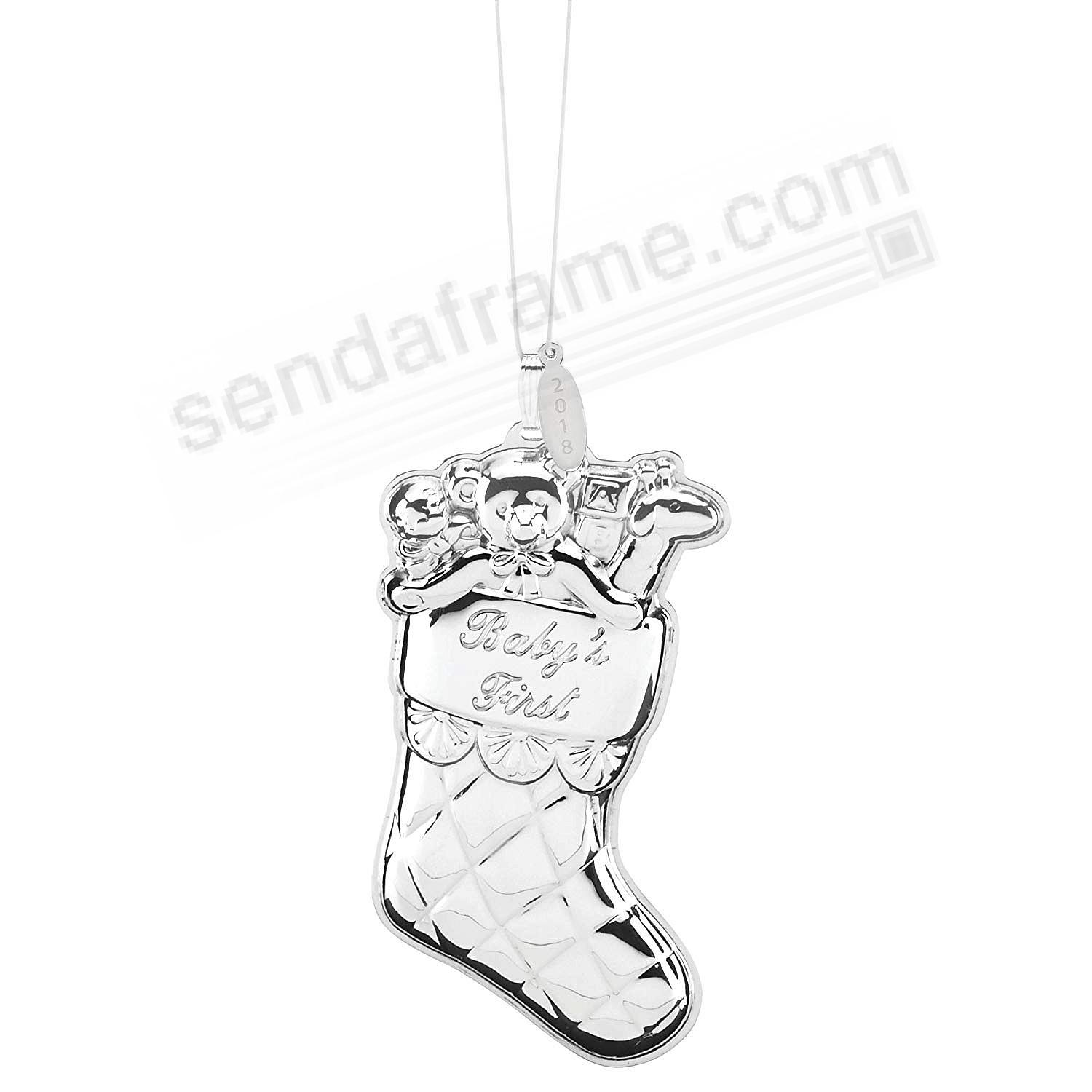 Sterling Silver BABY'S FIRST CHRISTMAS Stocking 2018 by Reed & Barton