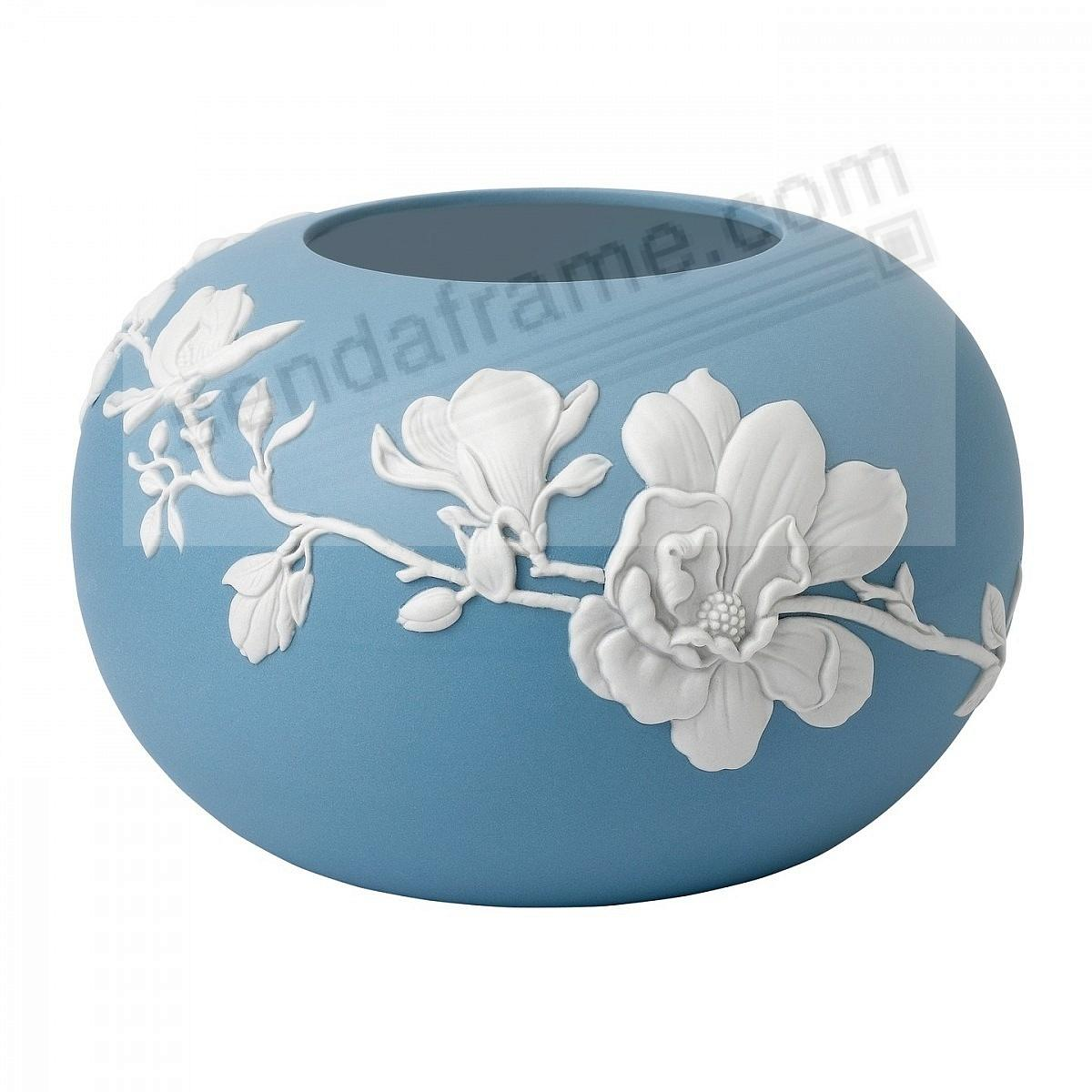 Blue Jasperware MAGNOLIA BLOSSOM ROSE 6-in BOWL by Wedgwood®