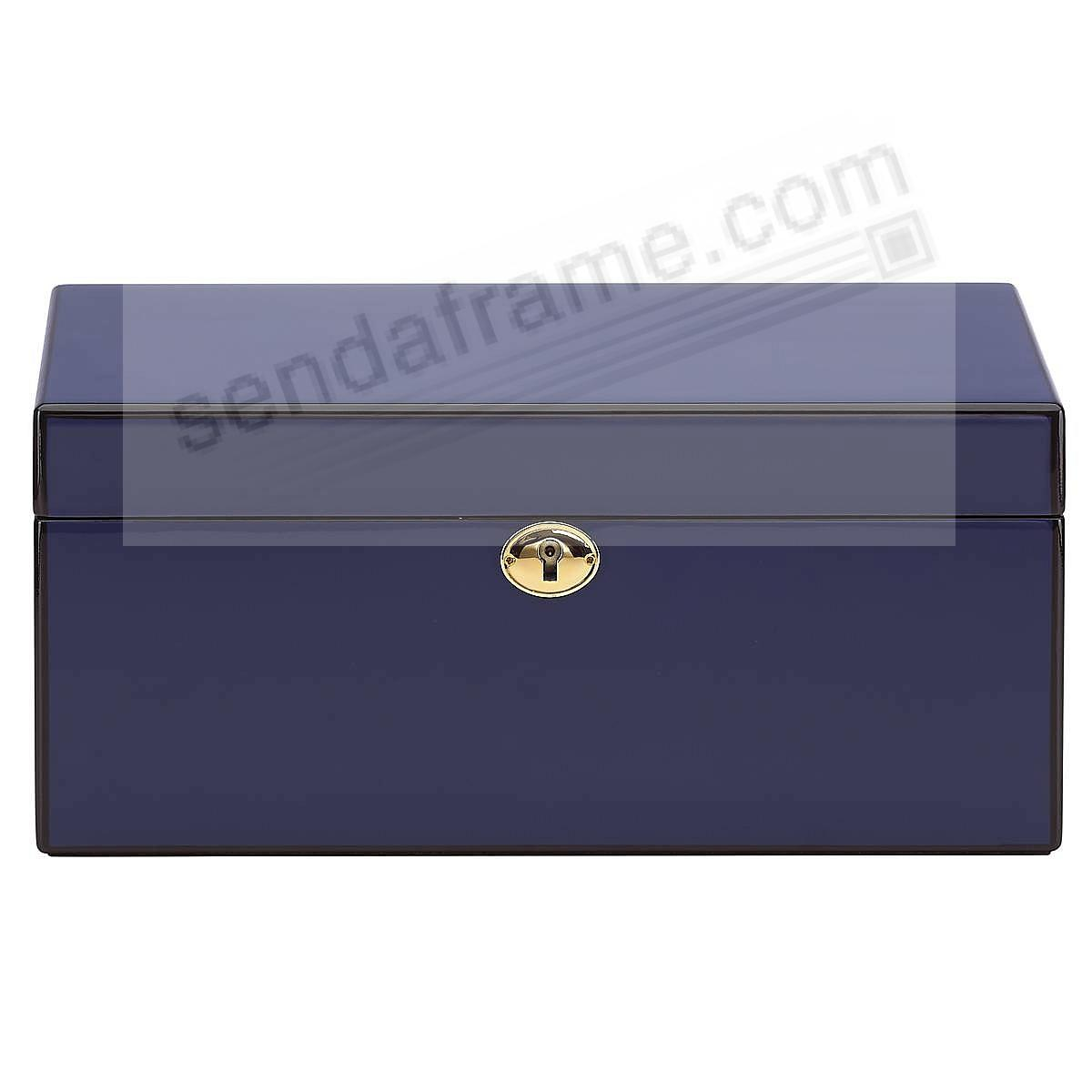 MODERN LINES NAVY-BLUE Jewelry Box by Reed & Barton®