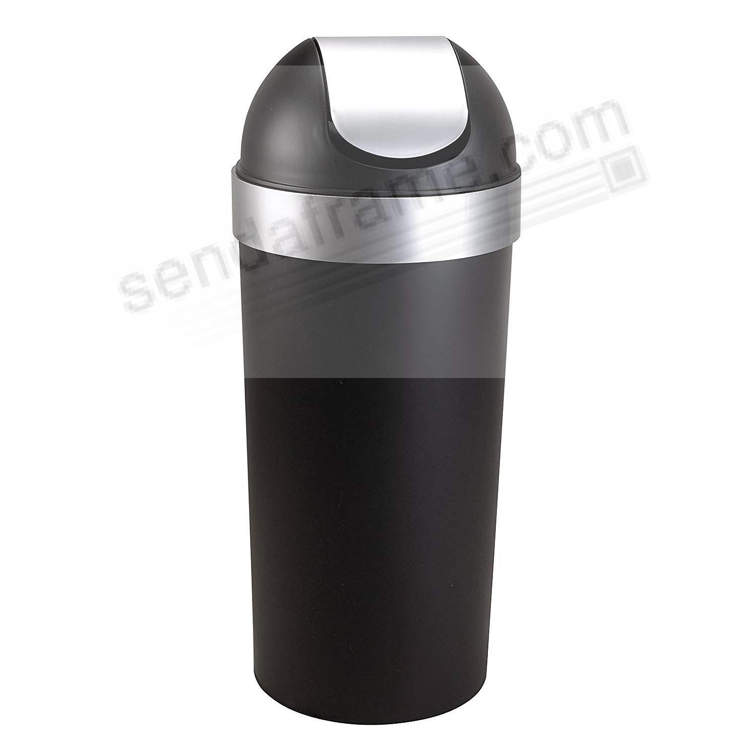 The Original VENTI TRASH CAN MATTE BLACK/NICKEL - by Umbra+®