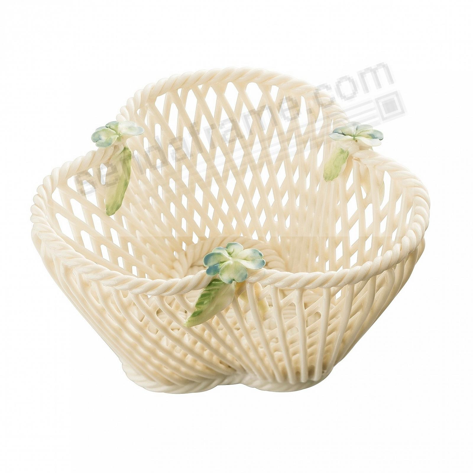FOUR LEAF CLOVER Irish Porcelain Basket by Belleek®