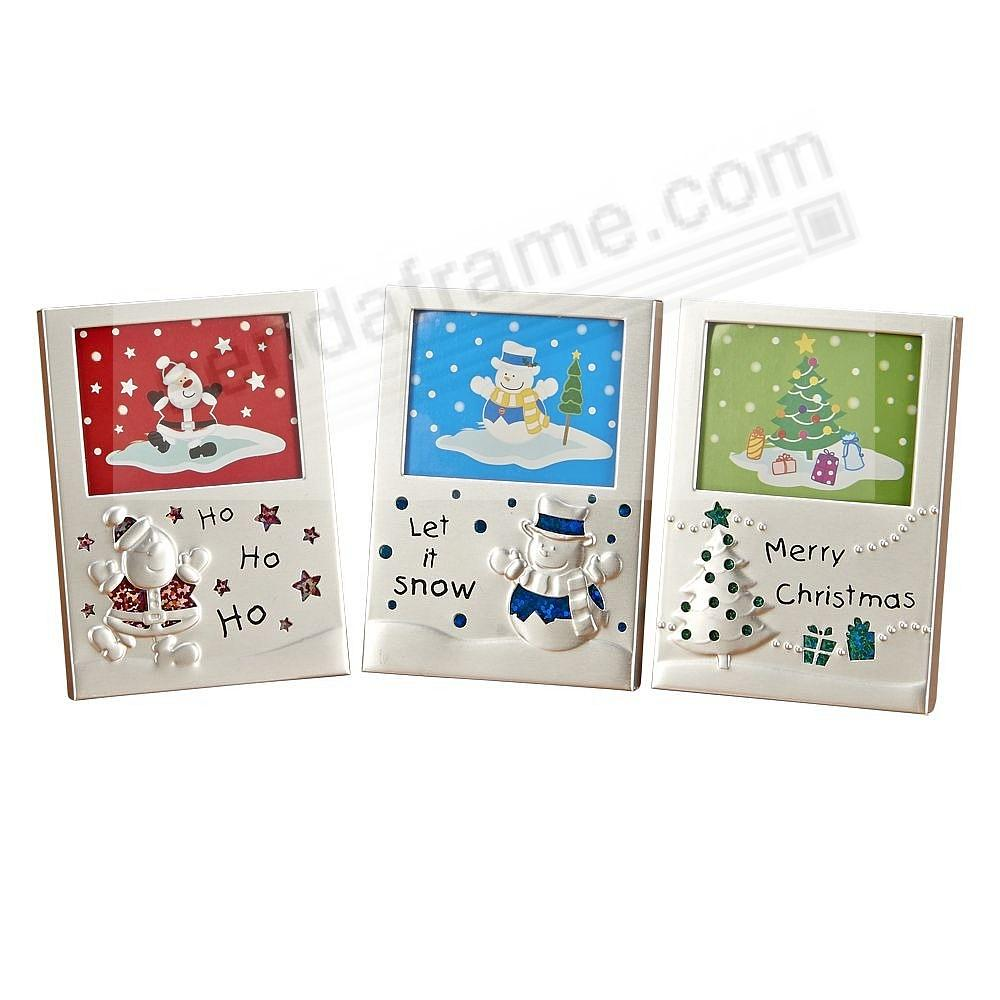 Set of 3 Holiday Mini-Frame Ornaments