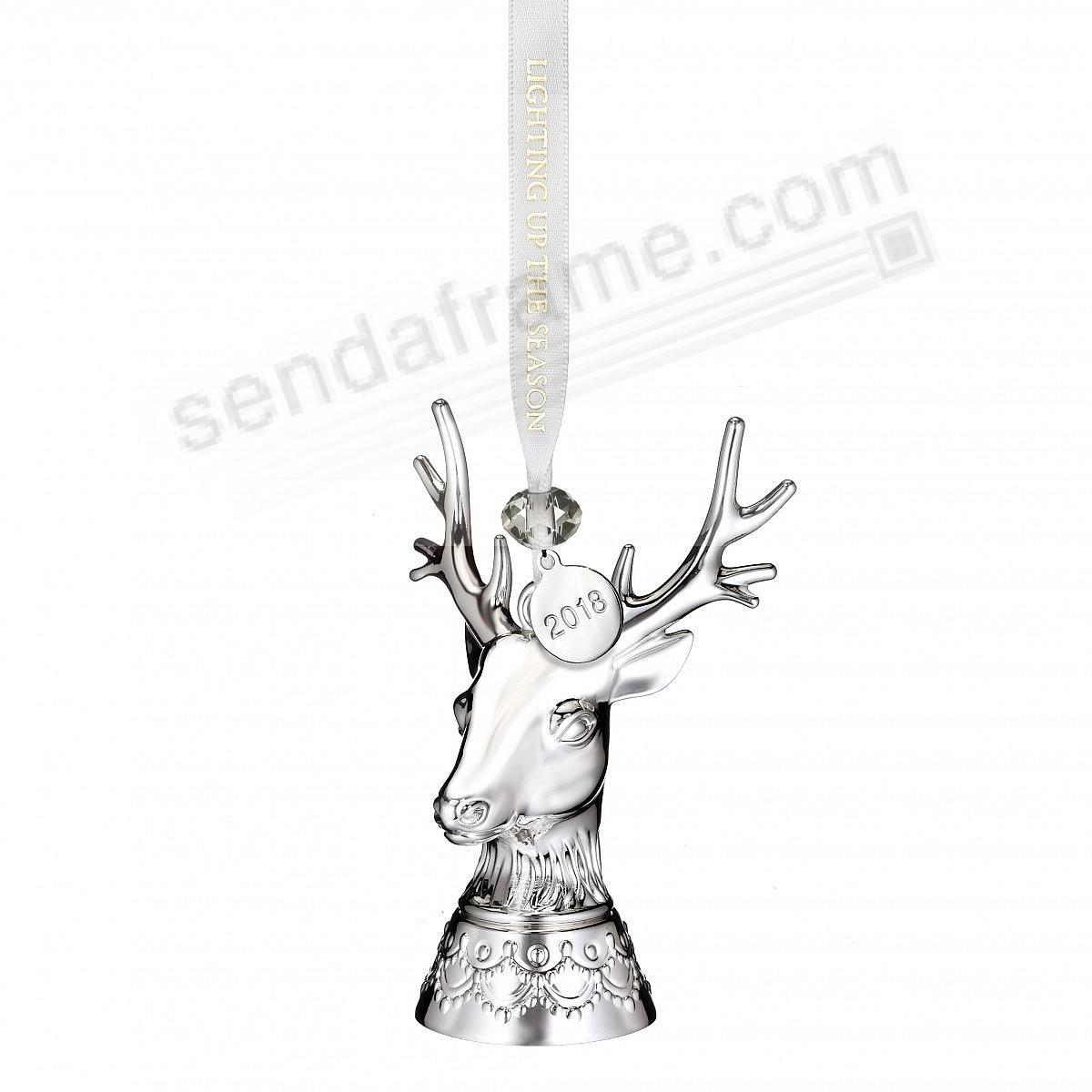 2018 Silver STAG Ornament by Waterford®
