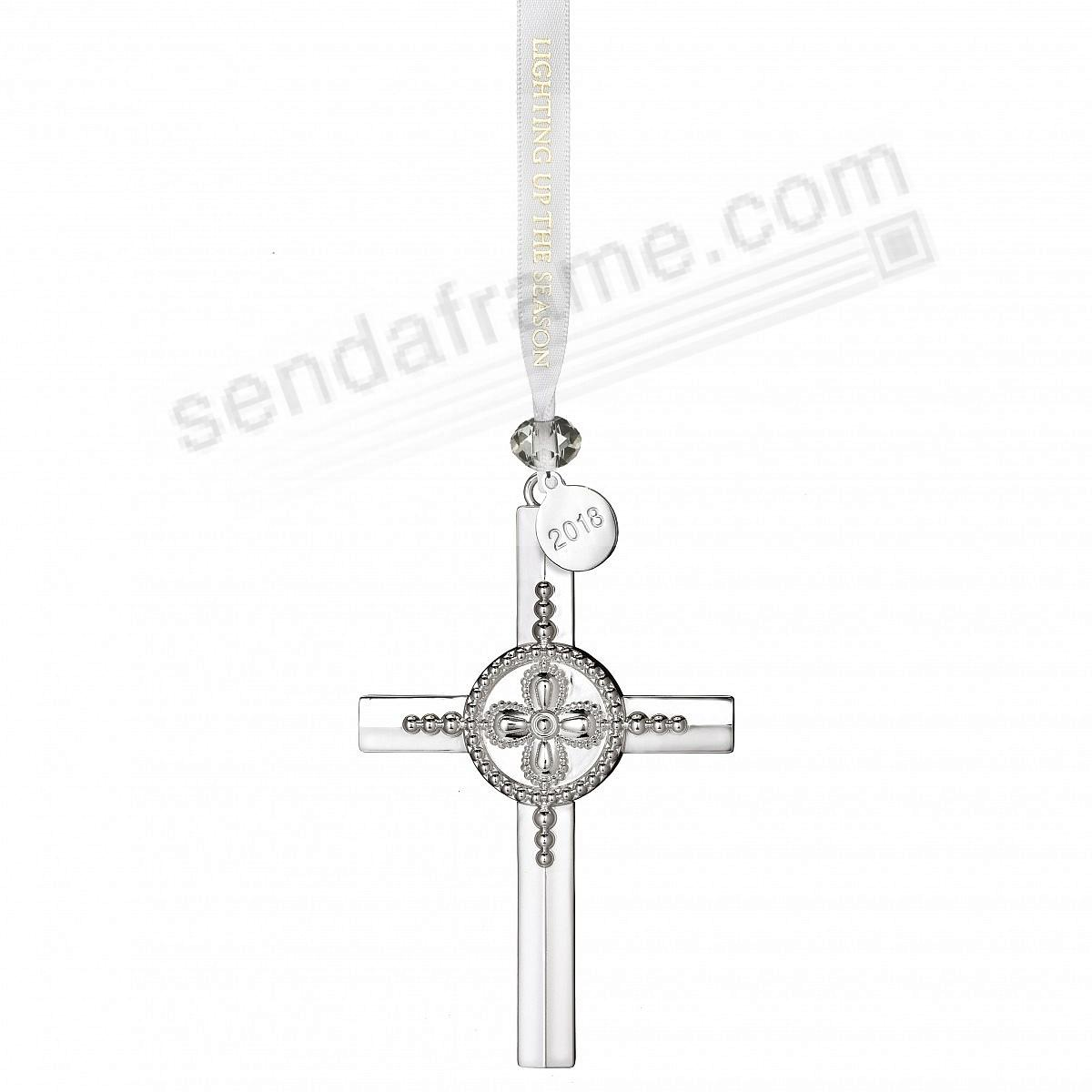 2018 Silver CROSS Ornament by Waterford®