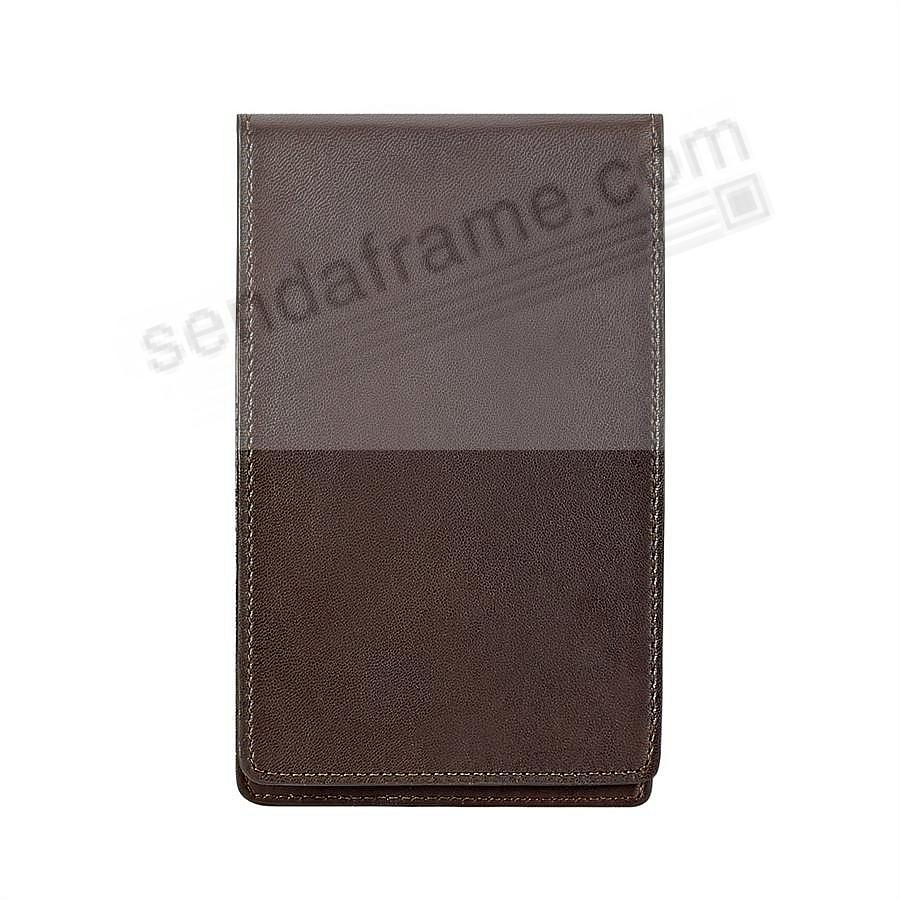Golf Yardage/Scorecard Cover Traditional Fine Leather by Graphic Image™