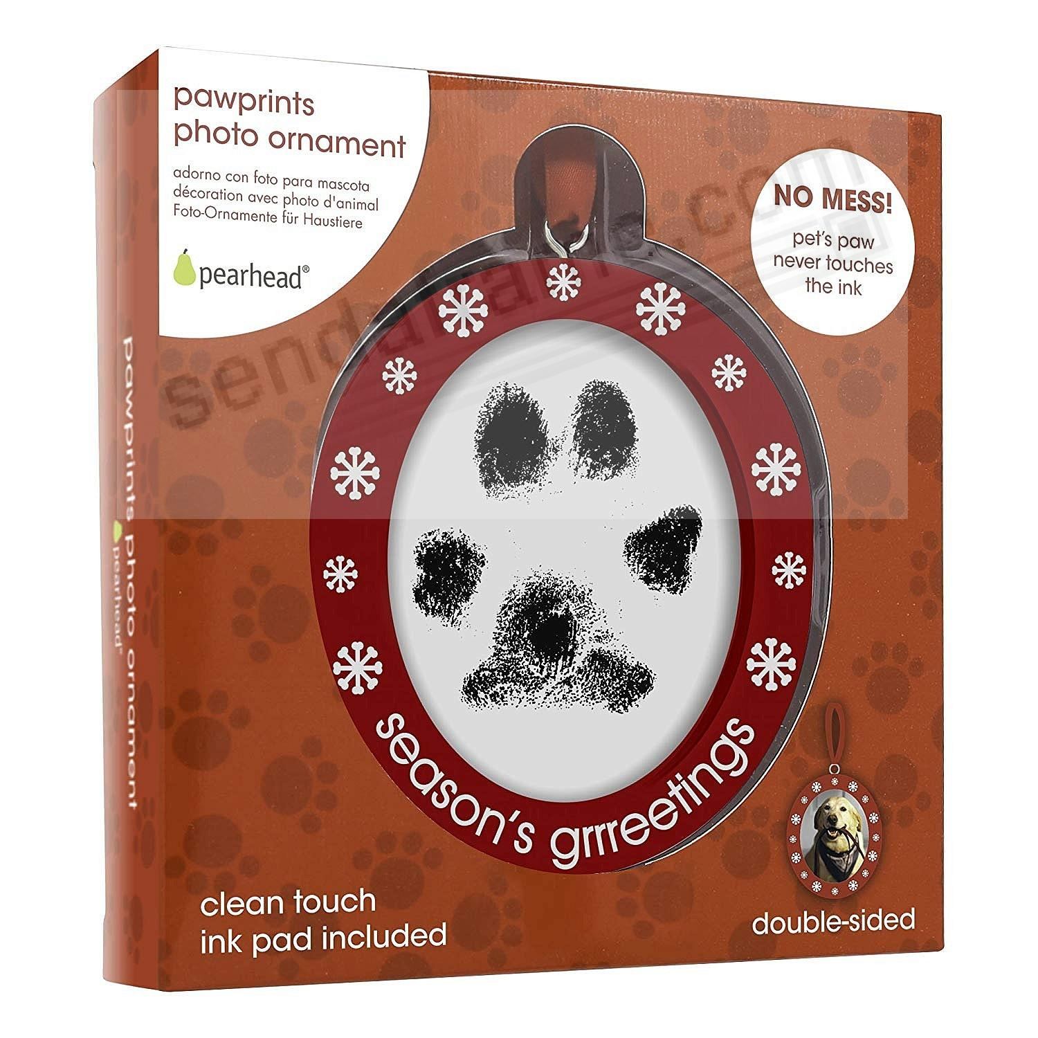 Pearhead® PAWPRINT PHOTO Ornament for a One-of-a-Kind Christmas gift