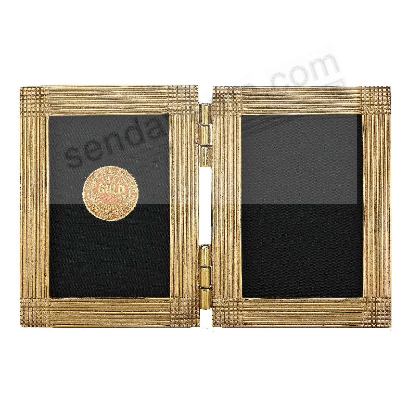 MATRIX luxe museum gold over fine pewter DOUBLE 2x3 by Elias Artmetal®