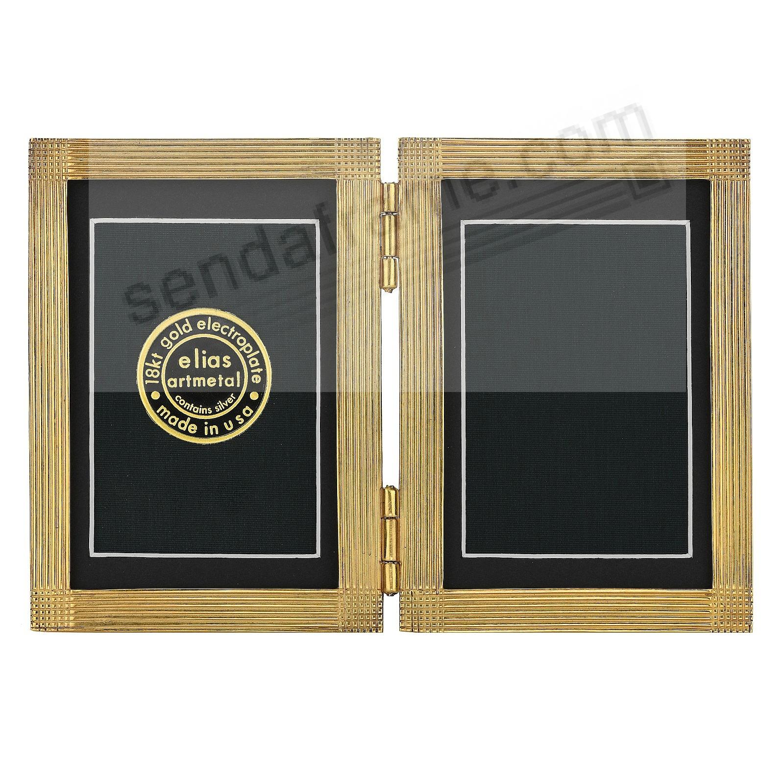 MATRIX luxe museum gold over fine pewter DOUBLE 3x4/2x3 by Elias Artmetal®