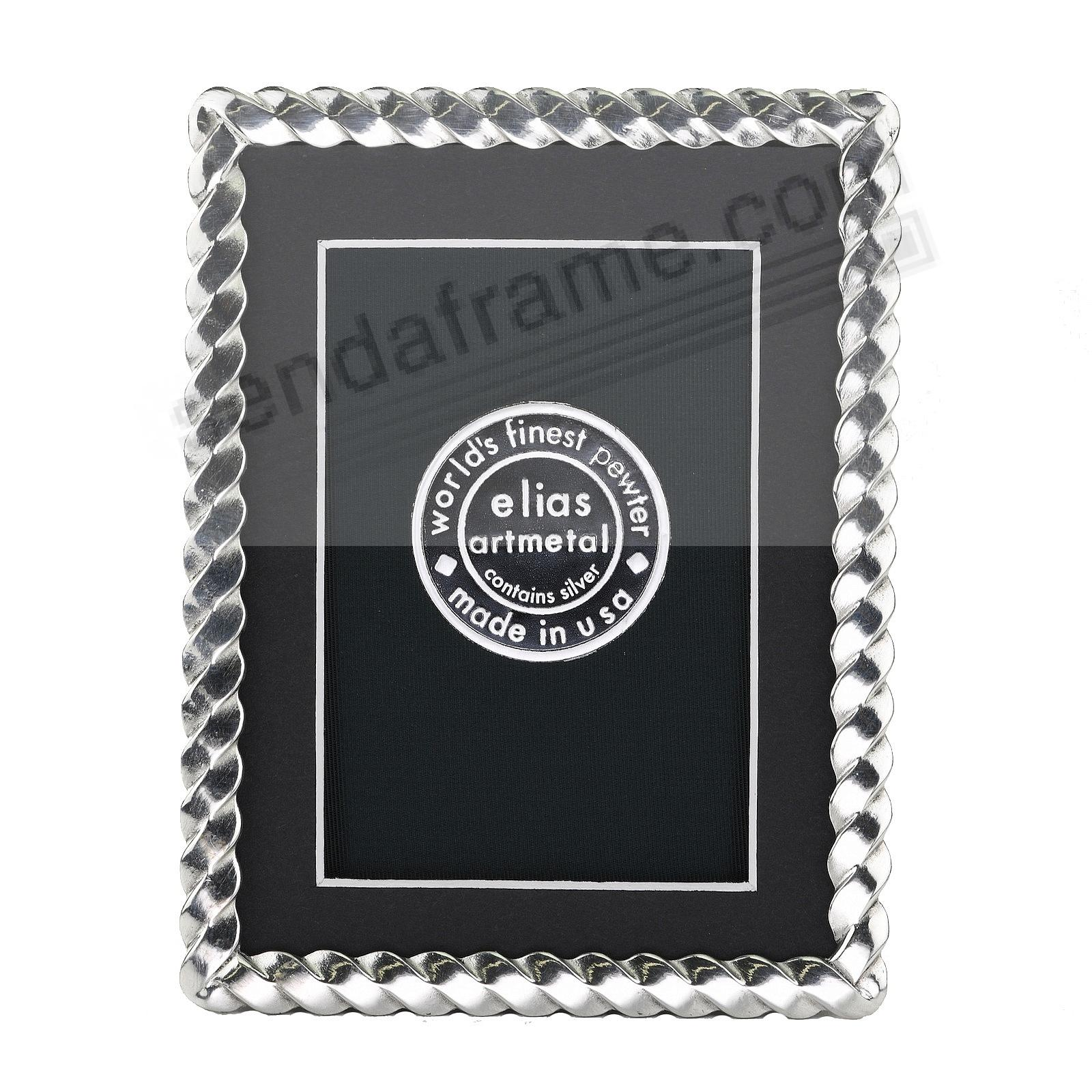 SPIRAL fine Silvered Pewter 3x4 frame by Elias Artmetal®