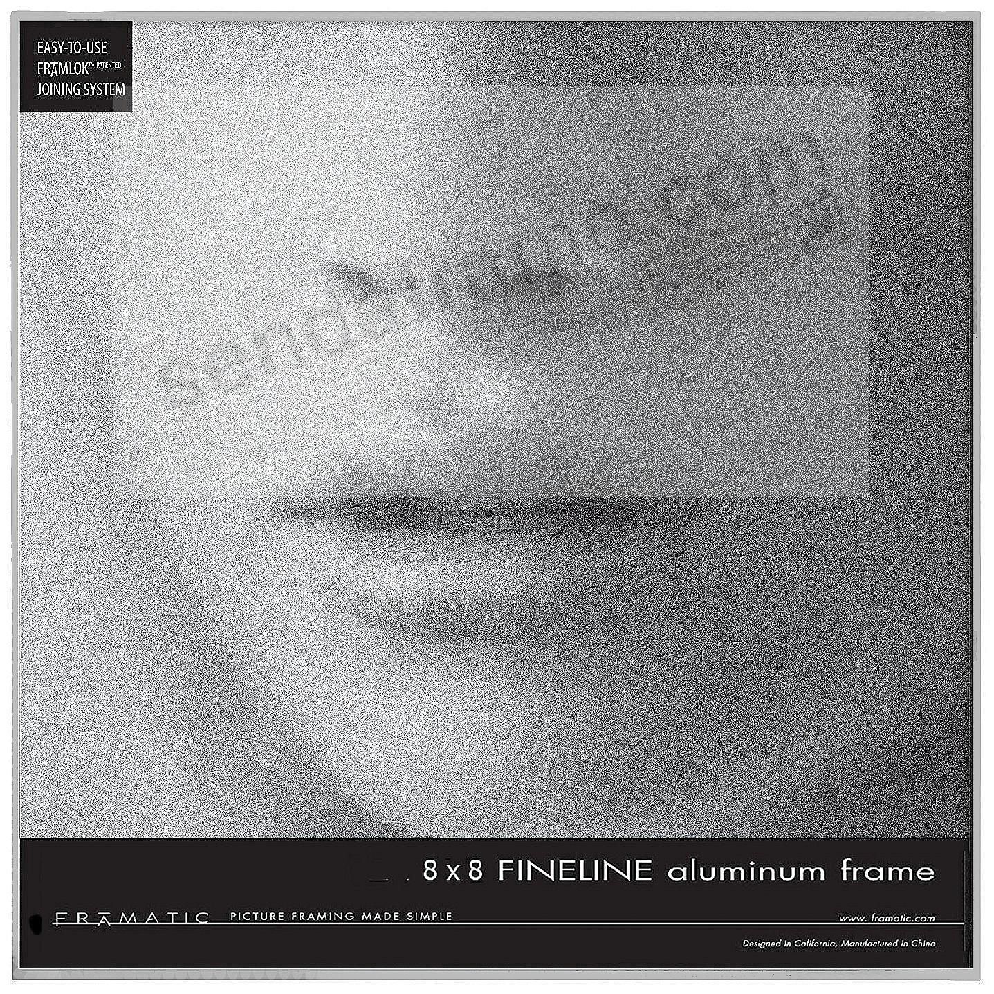 FINELINE Silver Aluminum 8x8 by Framatic®
