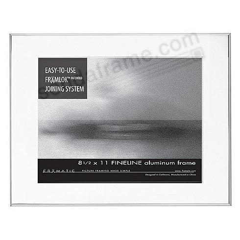 FINELINE Silver Aluminum 11x14/8½x11 by Framatic®