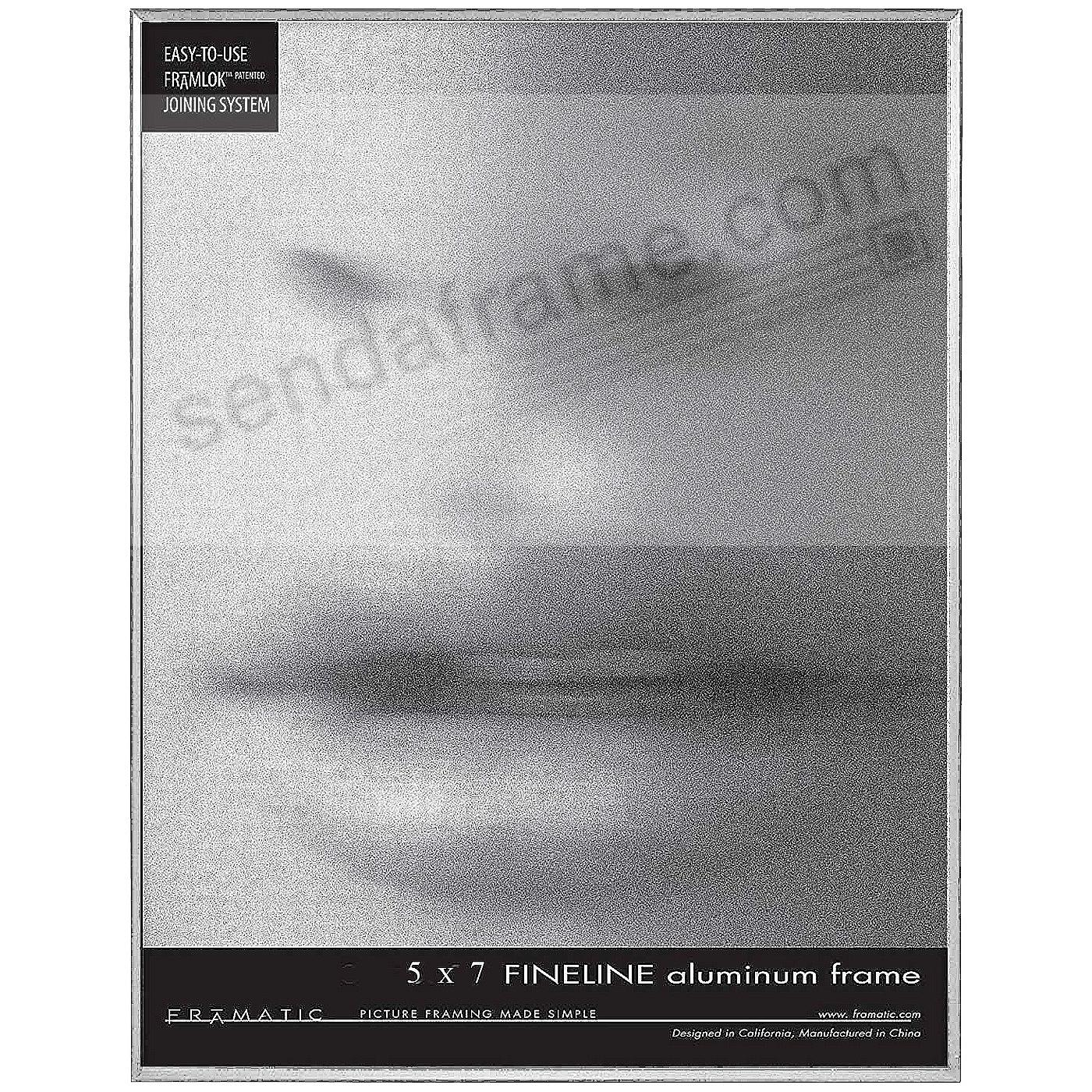 FINE LINE Silver Aluminum 5x7 by Framatic®