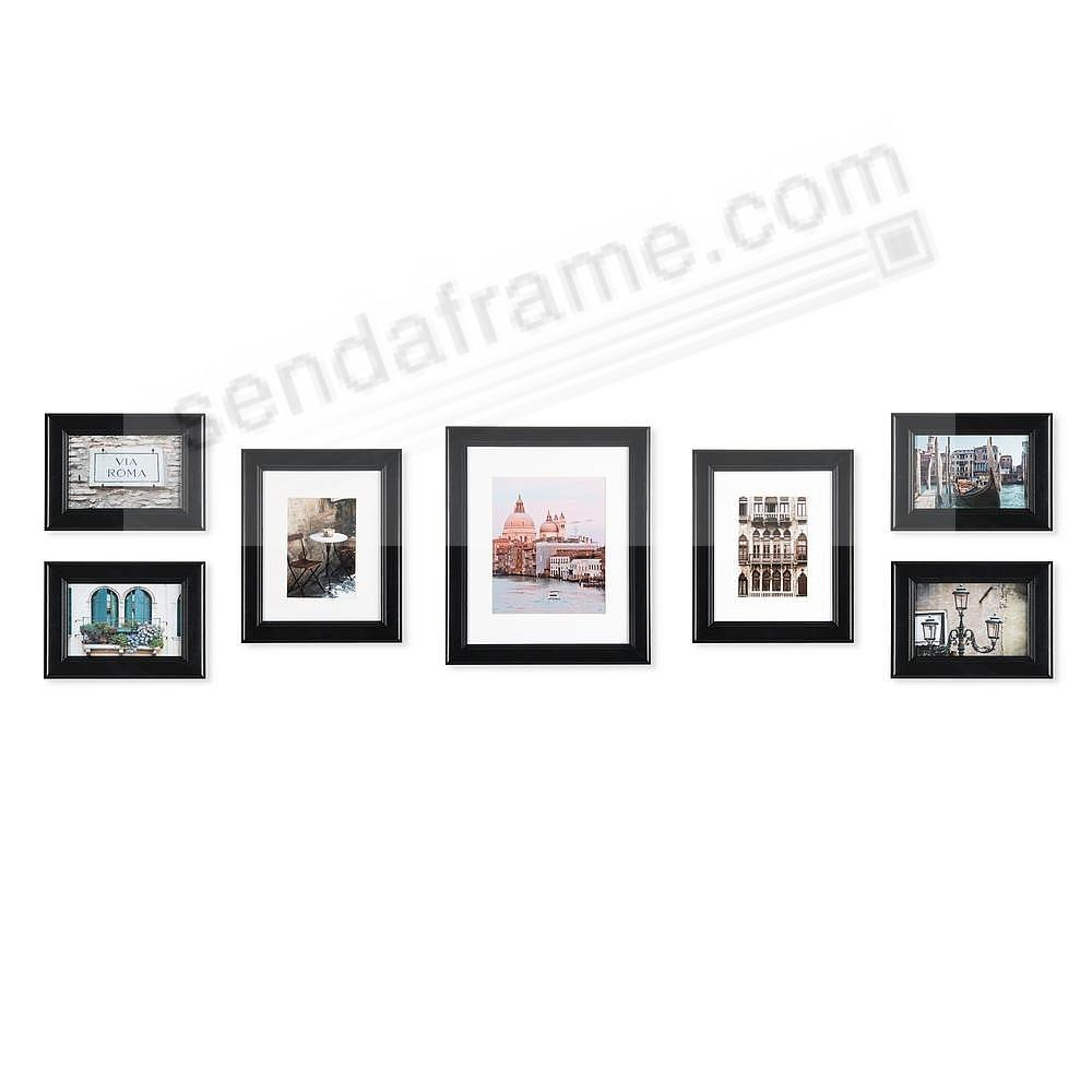 Black Wood 7-PC Wall Set by Gallery Solutions™ (7 piece kit)