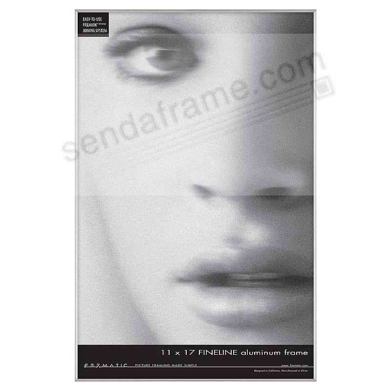 FINELINE Silver Aluminum 11x17 by Framatic®