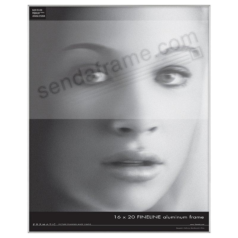 FINELINE Silver Aluminum 16x20 by Framatic®