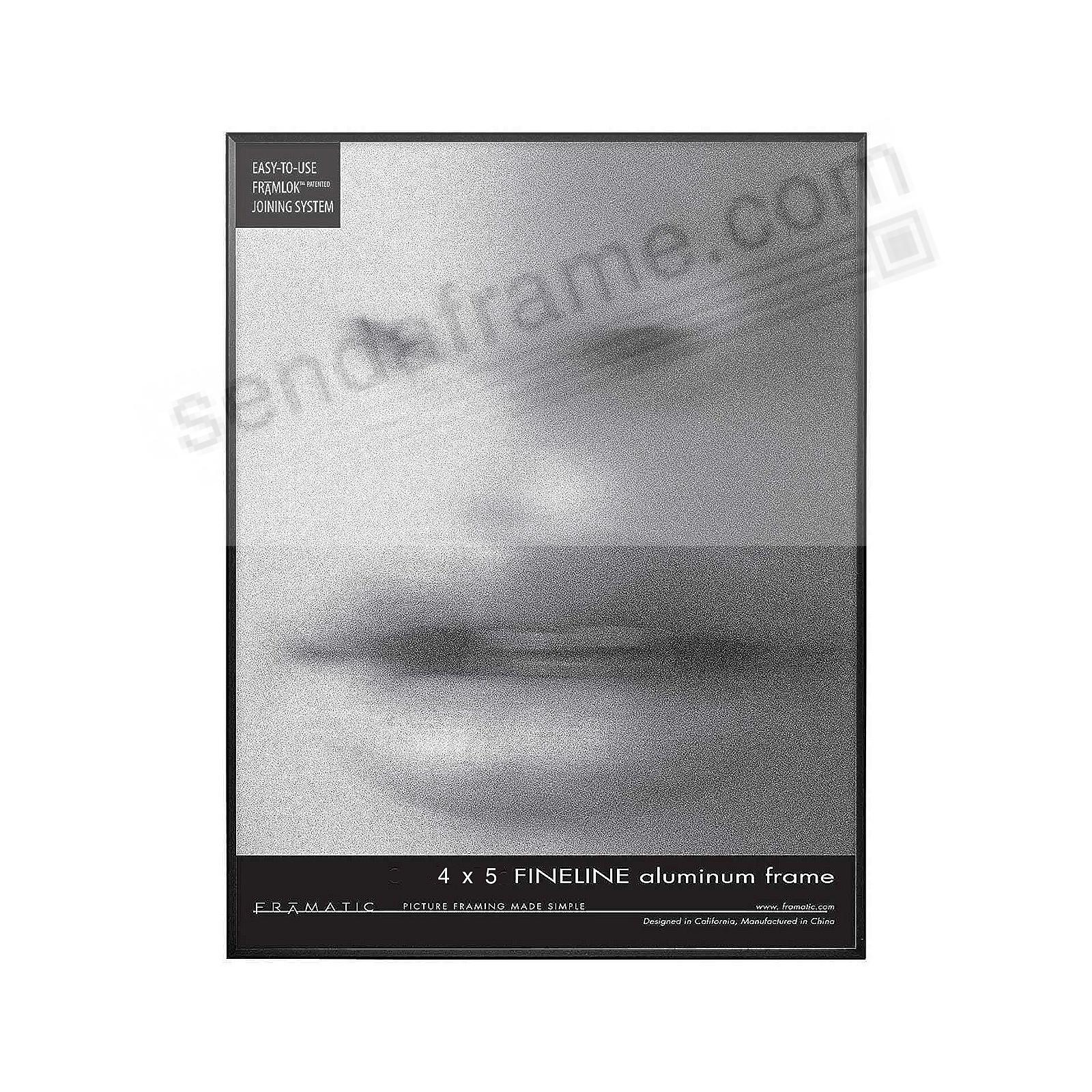 FINELINE Black Aluminum 4x5 by Framatic®