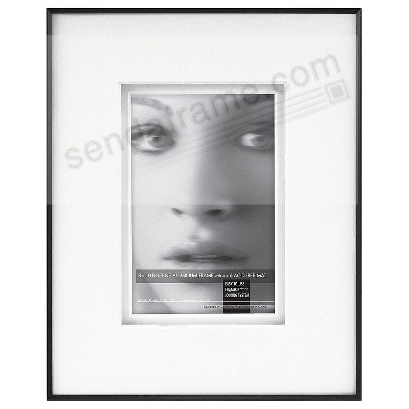 FINELINE Black Aluminum 8x10/4x6 Shadow-Matted by Framatic®