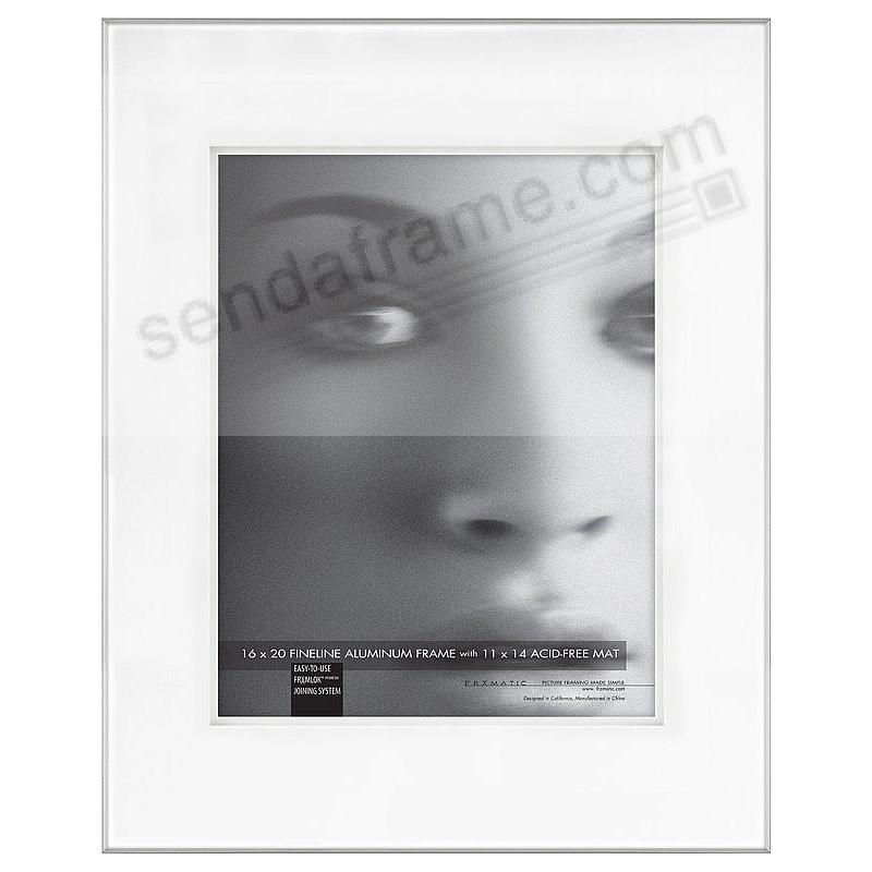FINELINE Silver Aluminum Shadow-Mat 16x20/11x14 by Framatic®