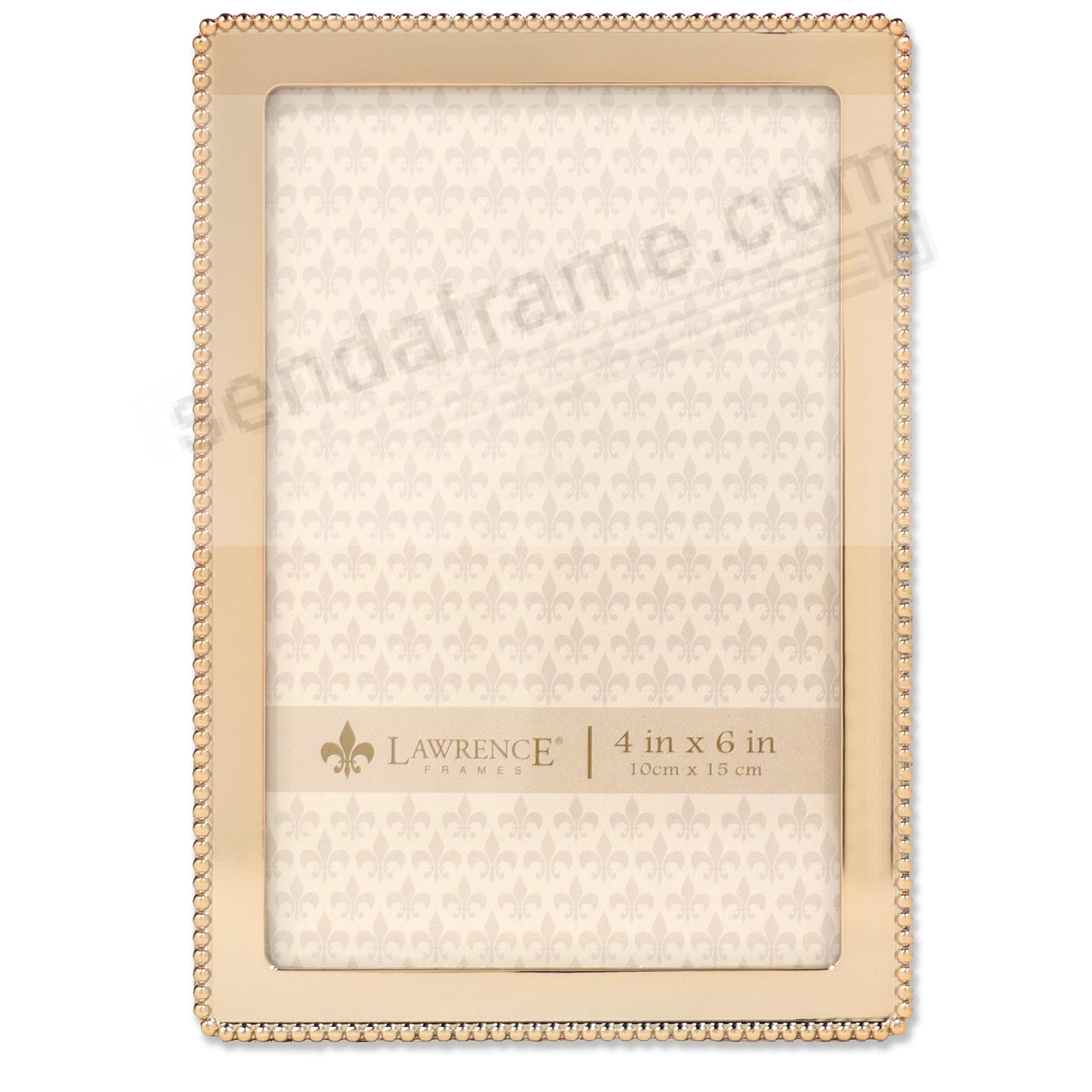 Bead Border Gold finish 4x6 frame by Lawrence®