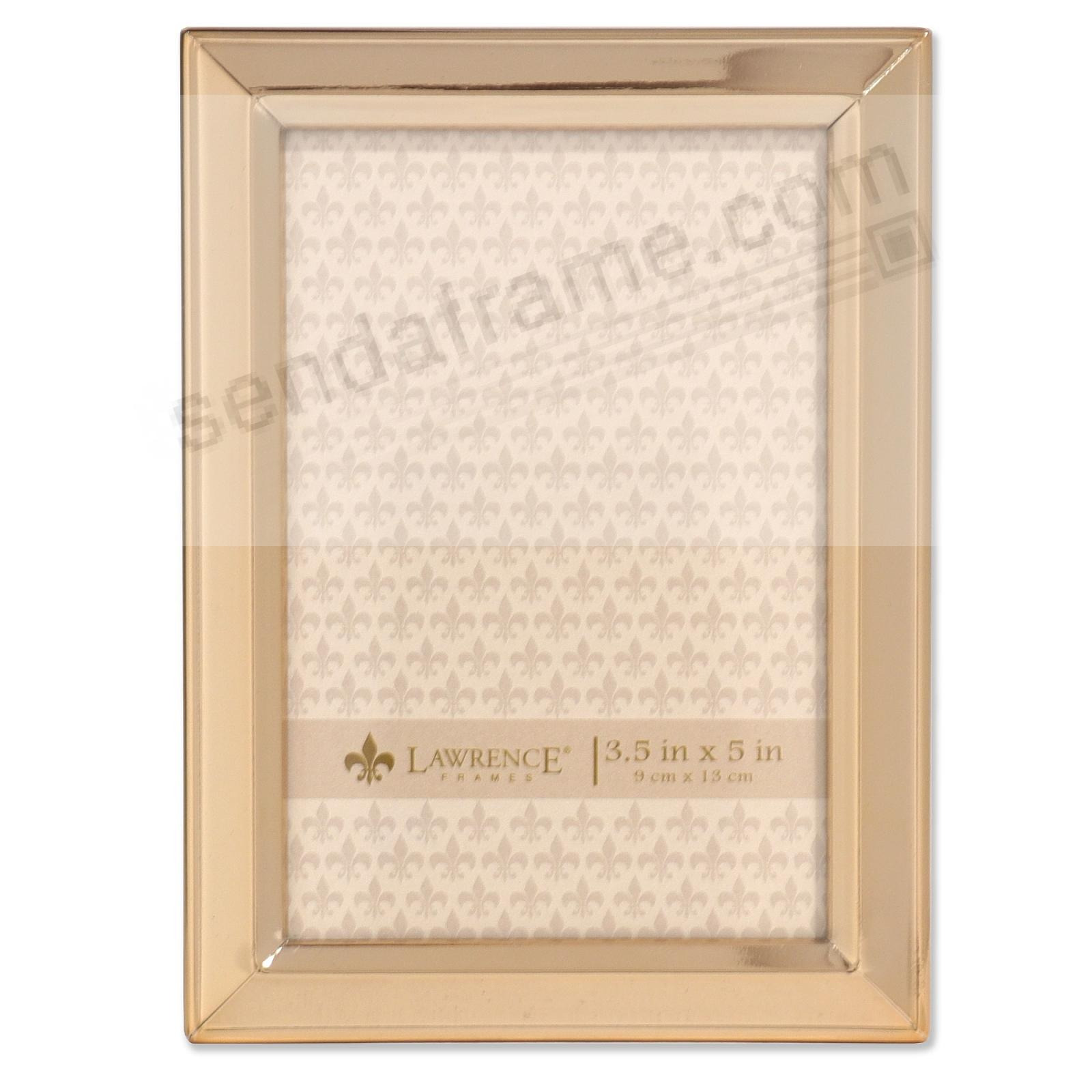 Bevelled Border Gold finish 3x5 frame by Lawrence®