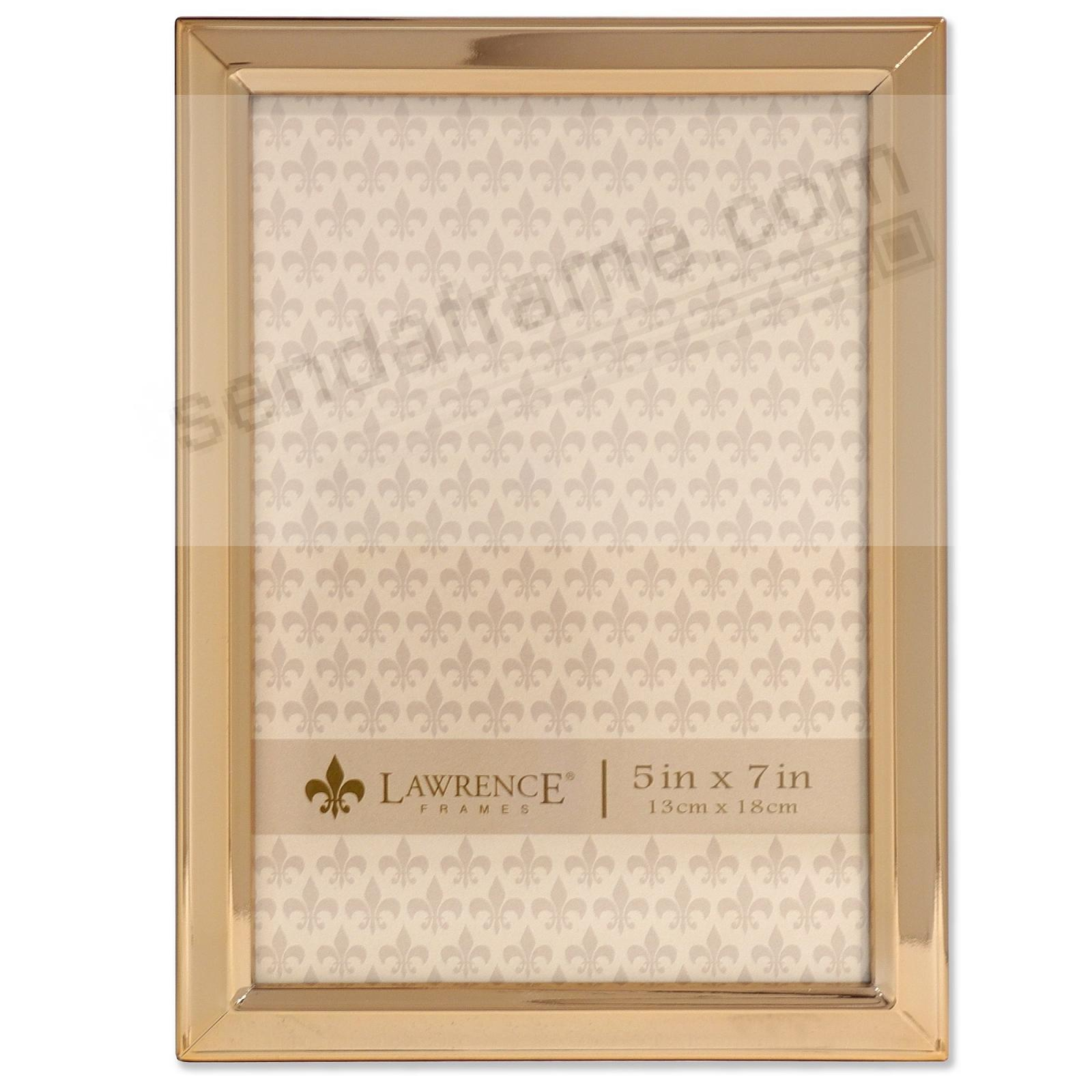 Bevelled Border Gold finish 5x7 frame by Lawrence®