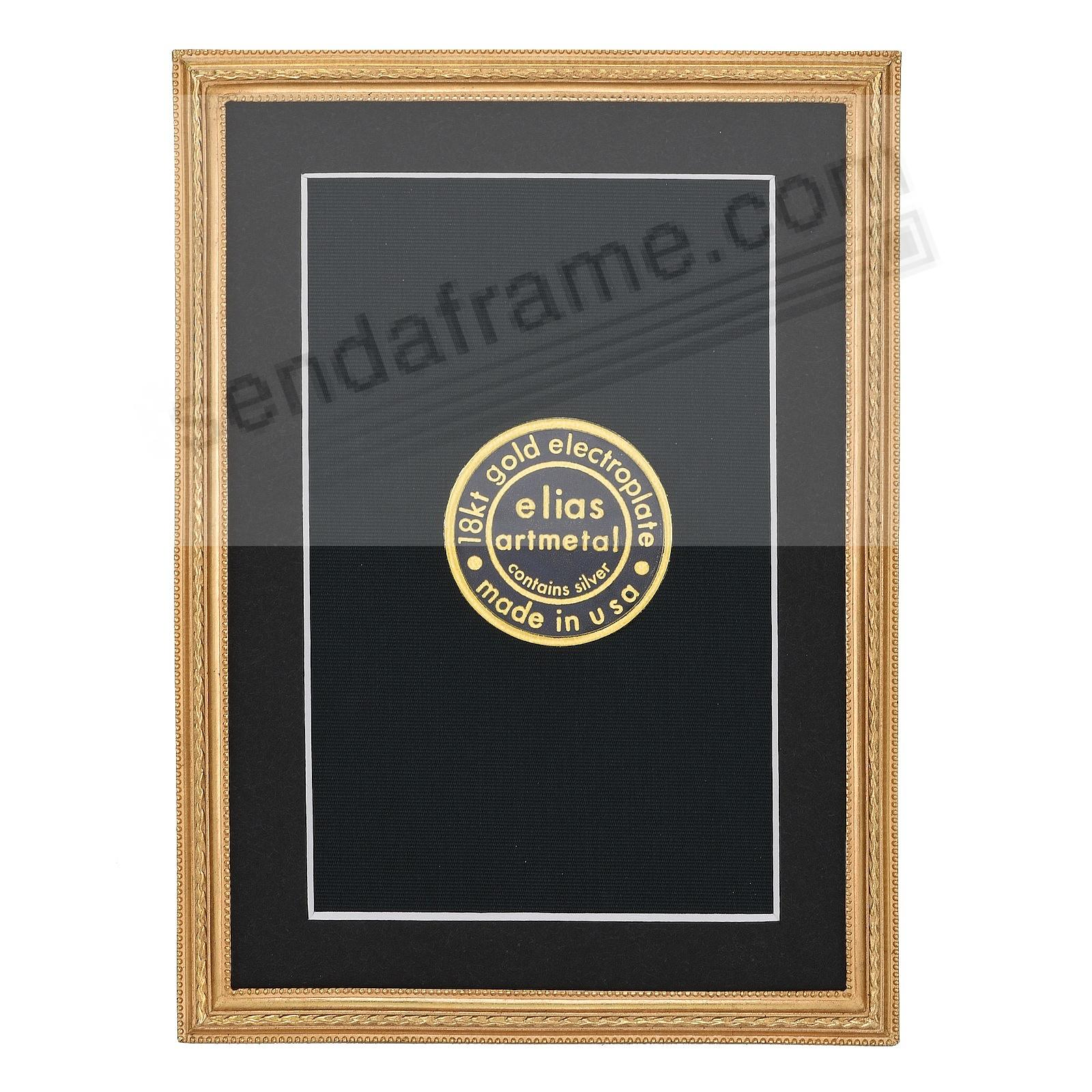 CAPSTONE 18kt Gold Vermeil Over Fine Pewter frame 3½x5 by Elias Artmetal®