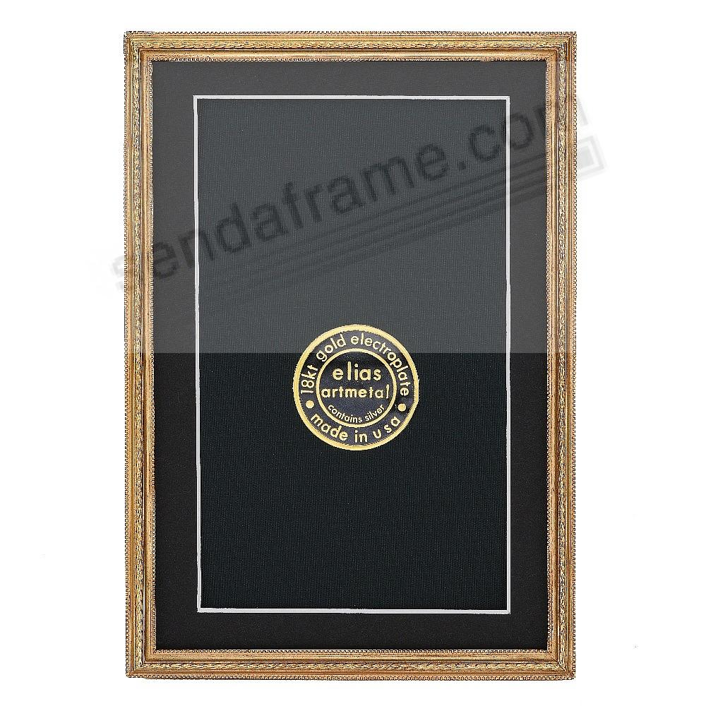 CAPSTONE 18kt Gold Over Fine Pewter 4x6/3½x5½ frame by Elias Artmetal®
